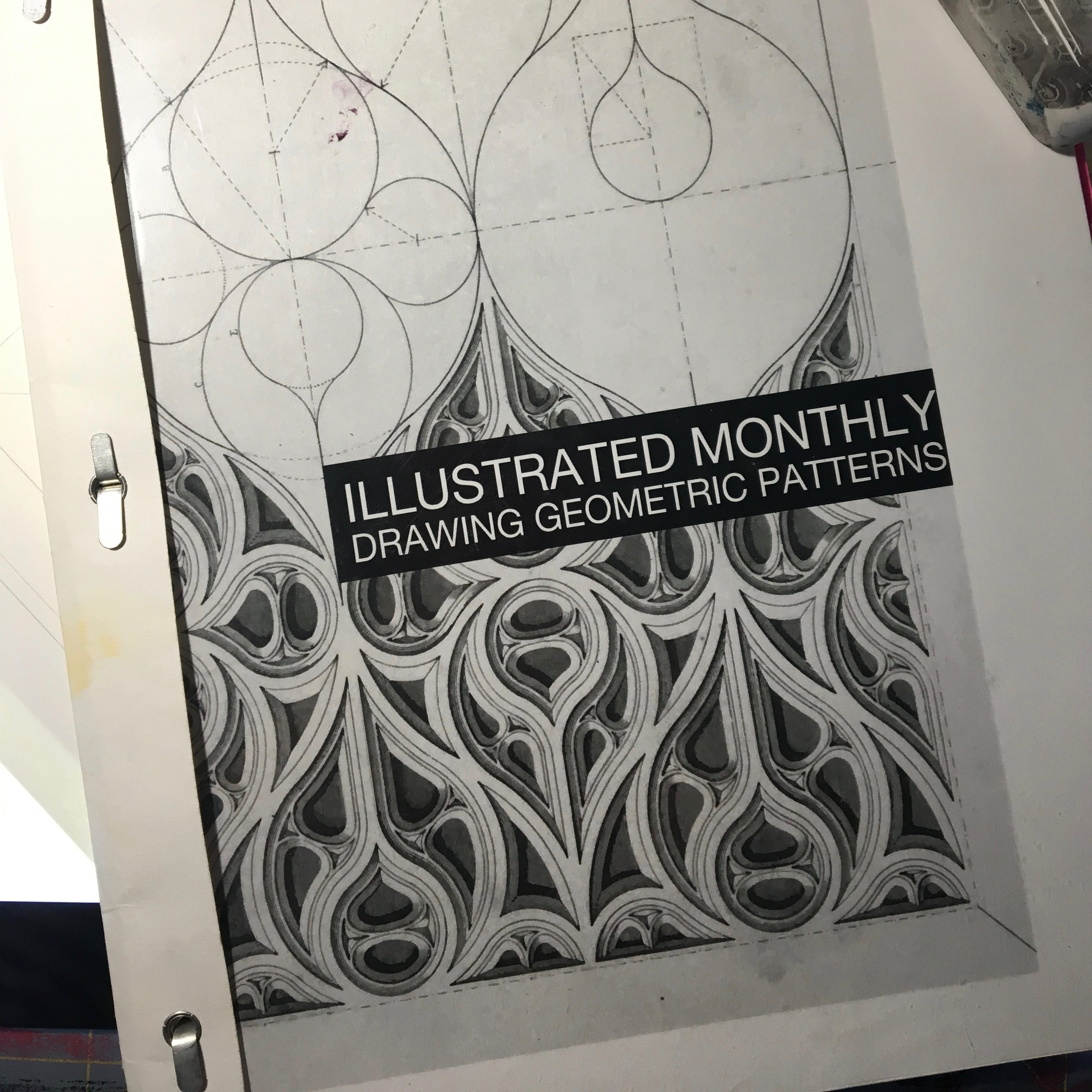 illustrated monthly drawing geometric patterns