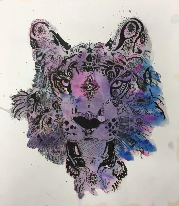 Watercolor & ink 9th grade