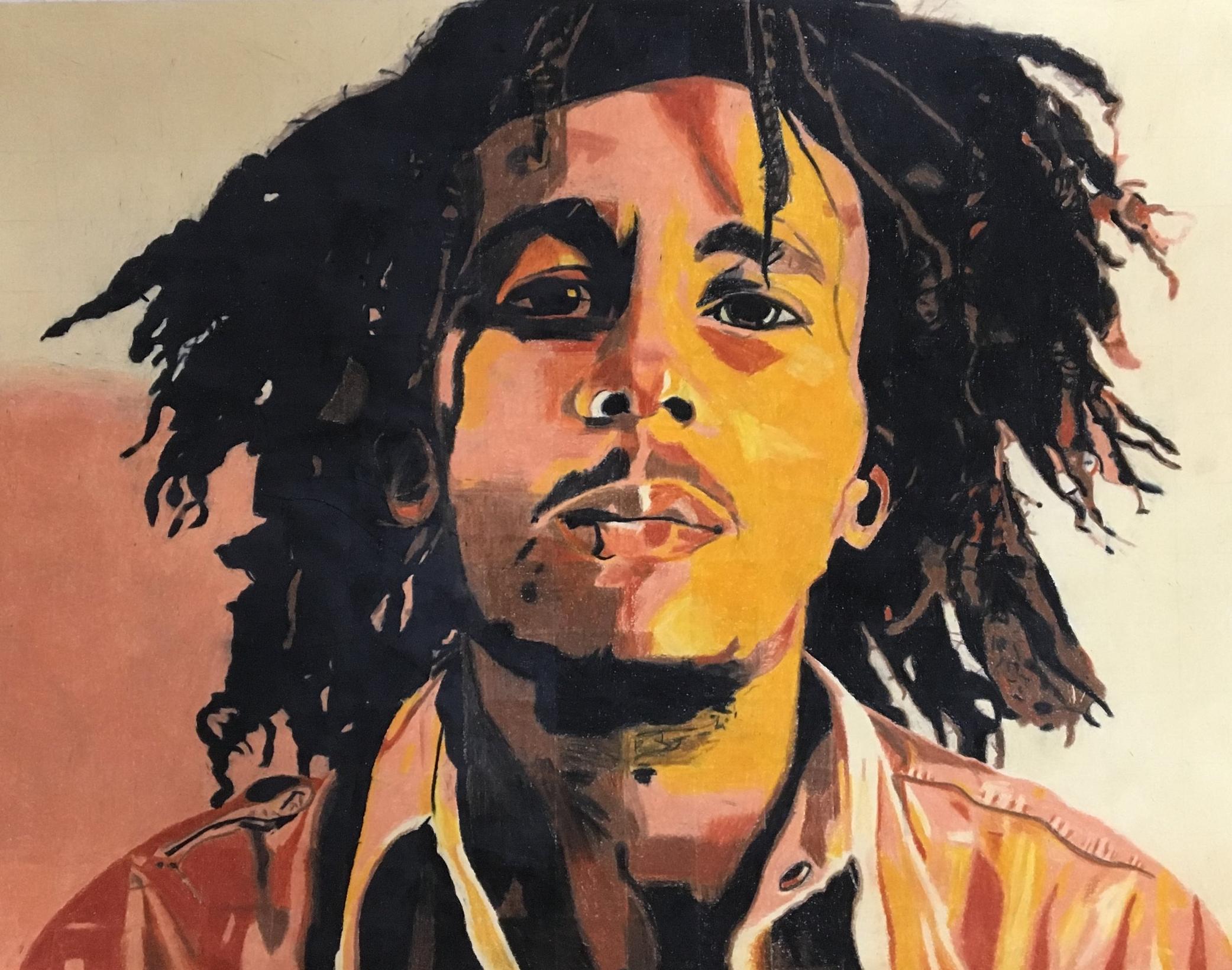 portrait | colored pencil | 11th grade