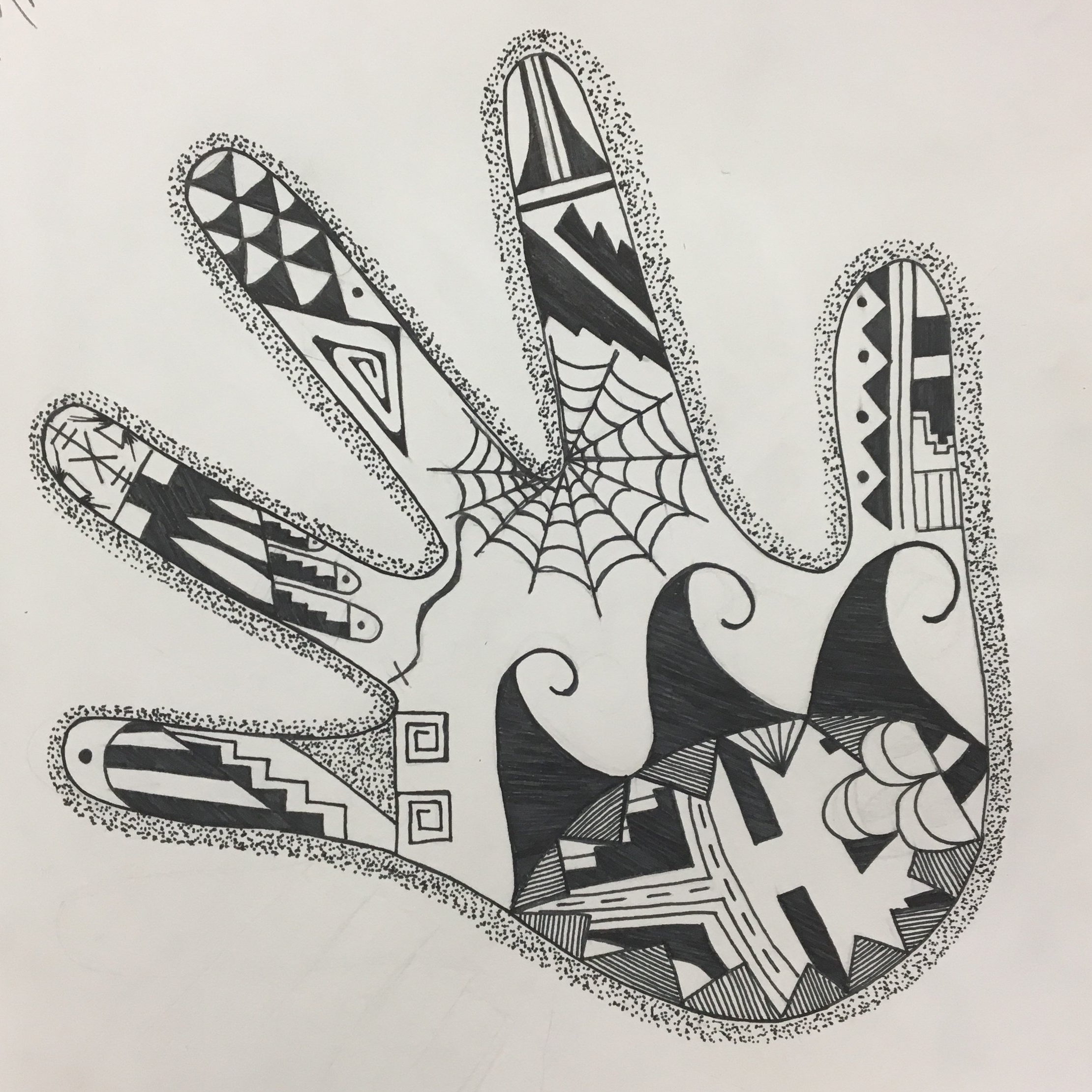 ink line drawing | symbolism | 11th grade