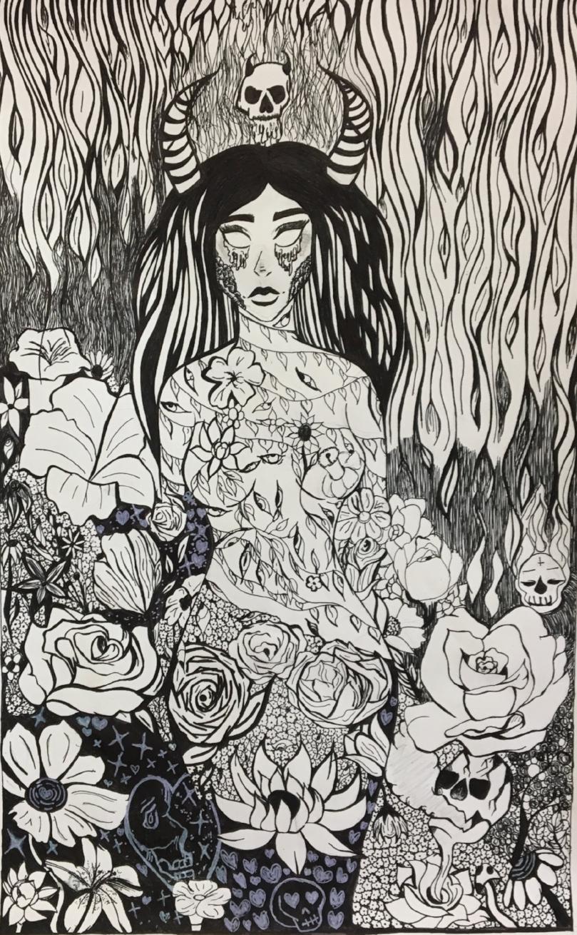 Ink drawing | 10th grade