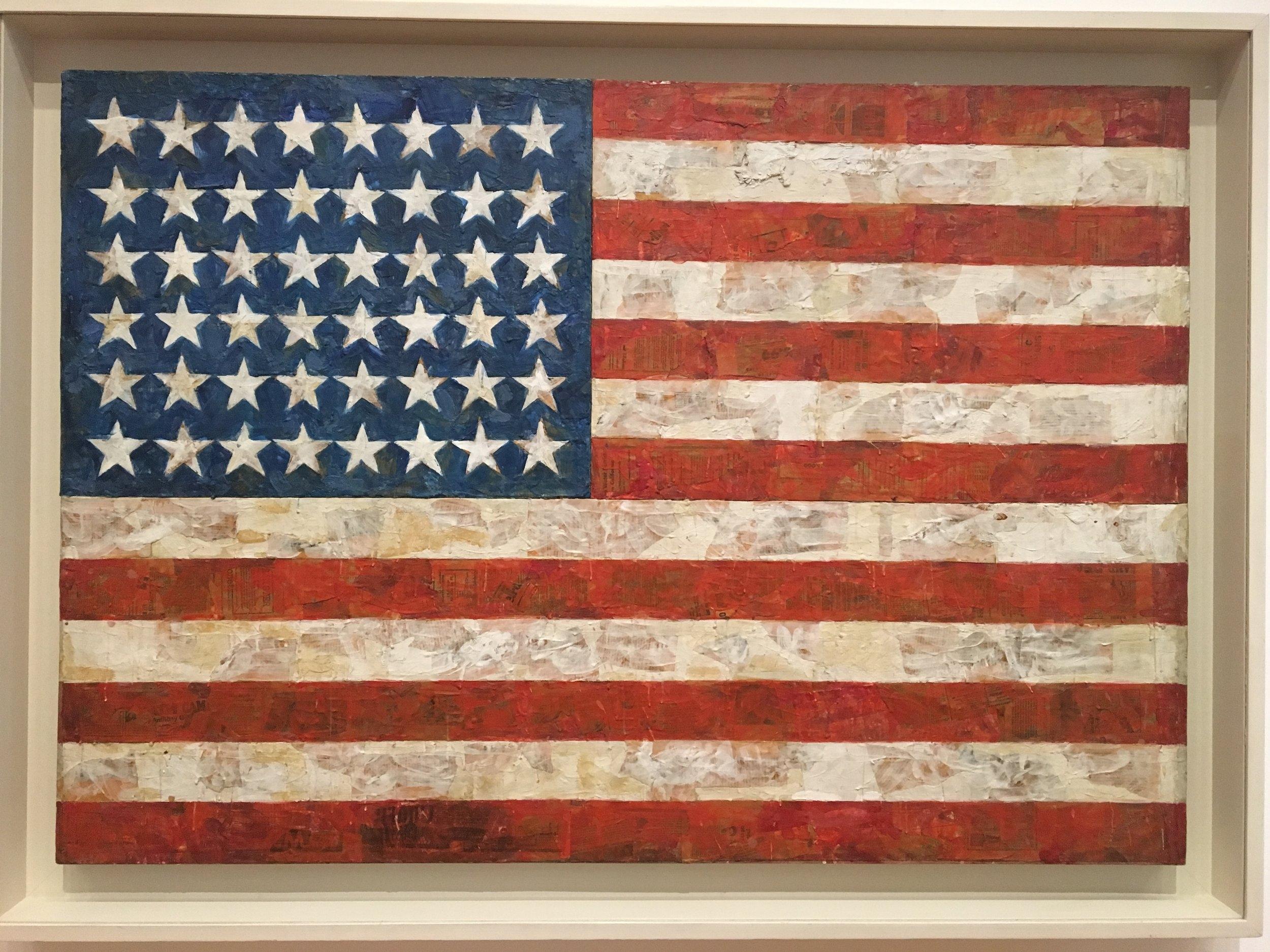 Jasper Johns, Flag - 1954-55, MoMA, NY