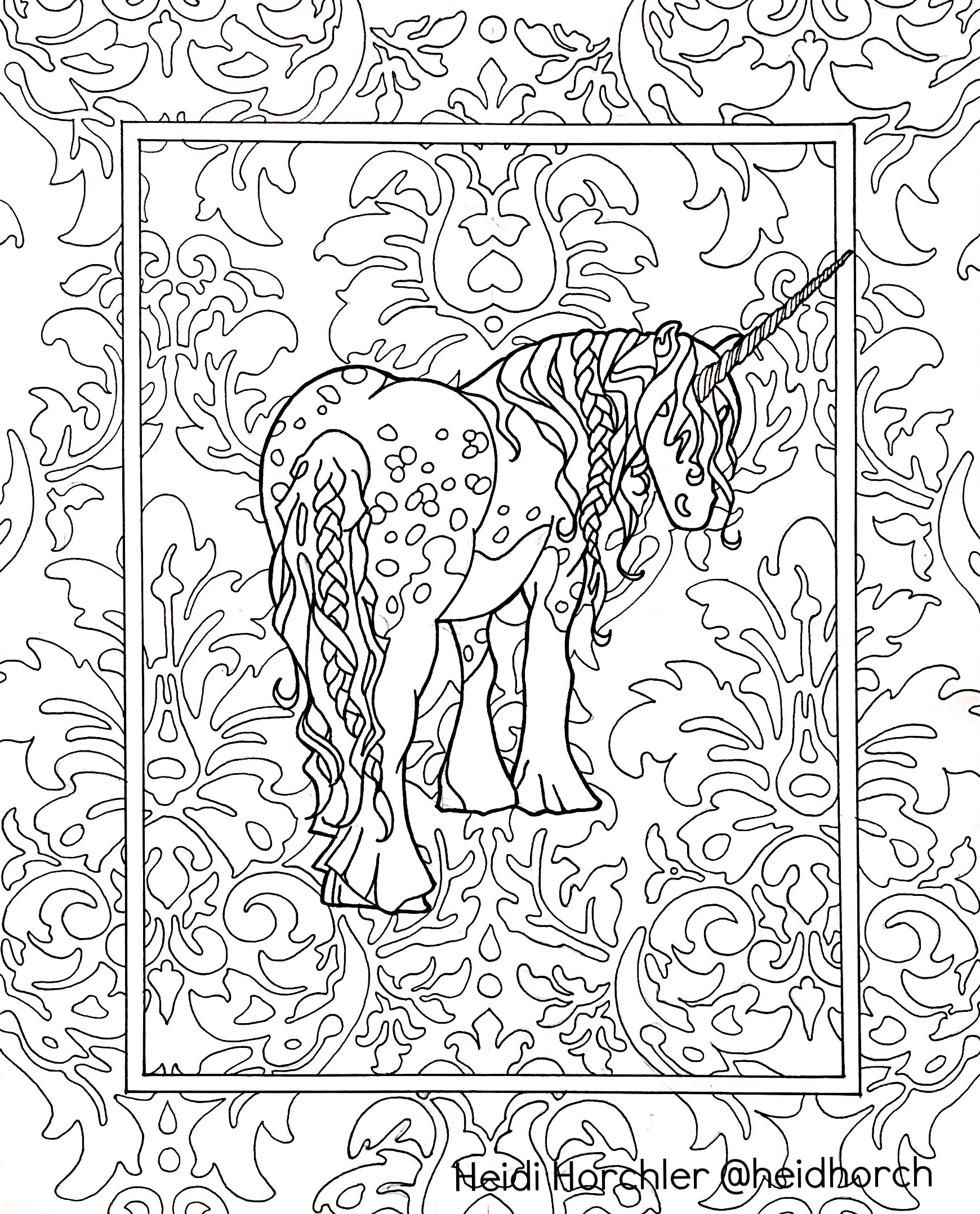 Unicorn - Daydream Odyssey coloring book