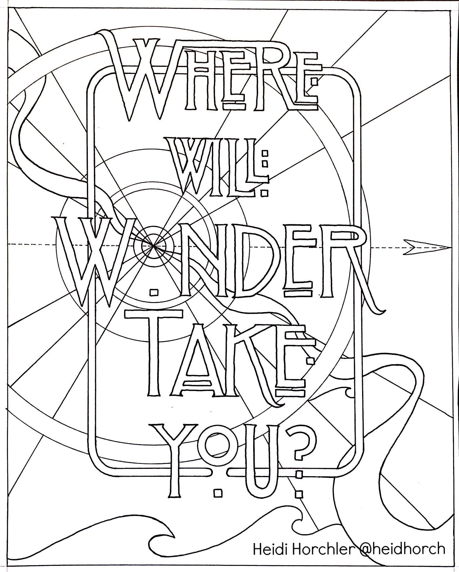 Wonder - Daydream Odyssey coloring page