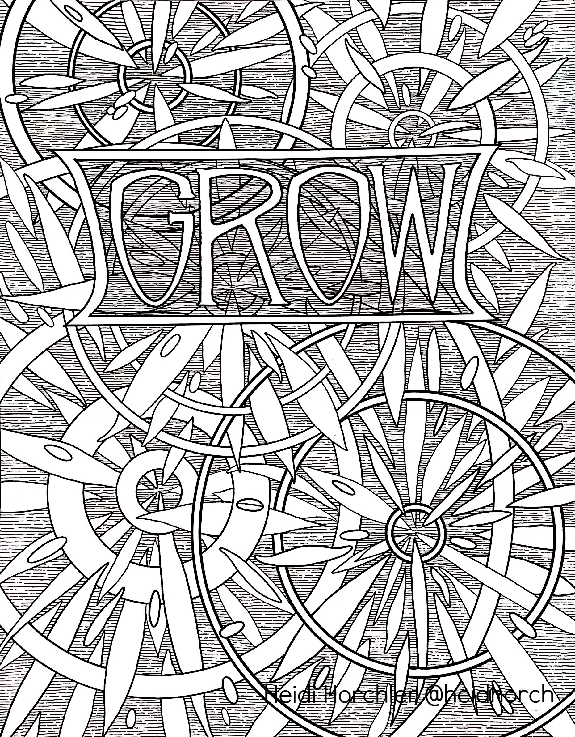 Grow - Daydream Odyssey coloring page