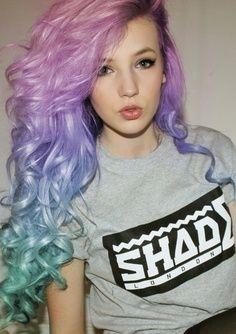 Cotton candy mermaid hair.