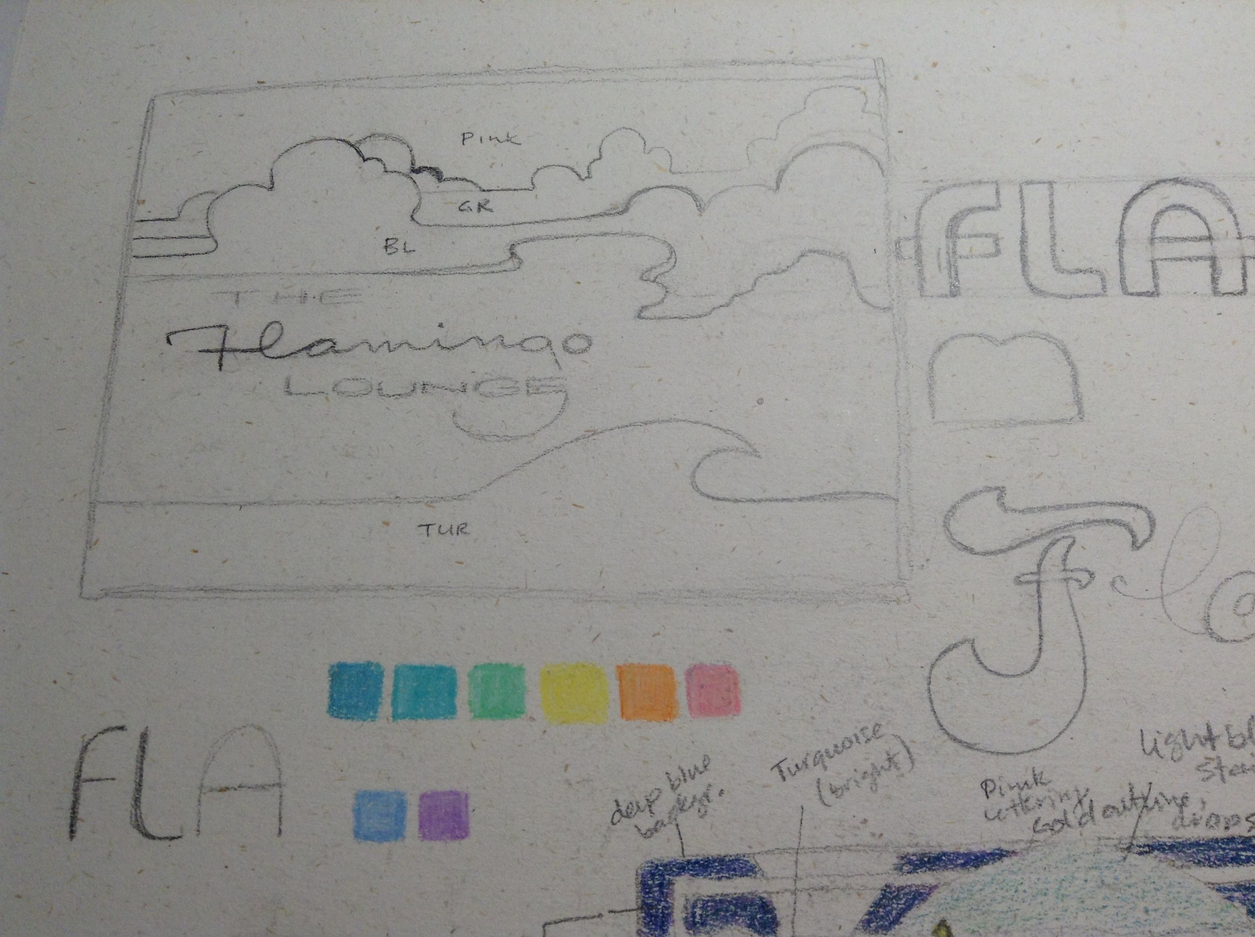 I love drawing these puffy clouds inspired by the earlier art of  Peter Max .