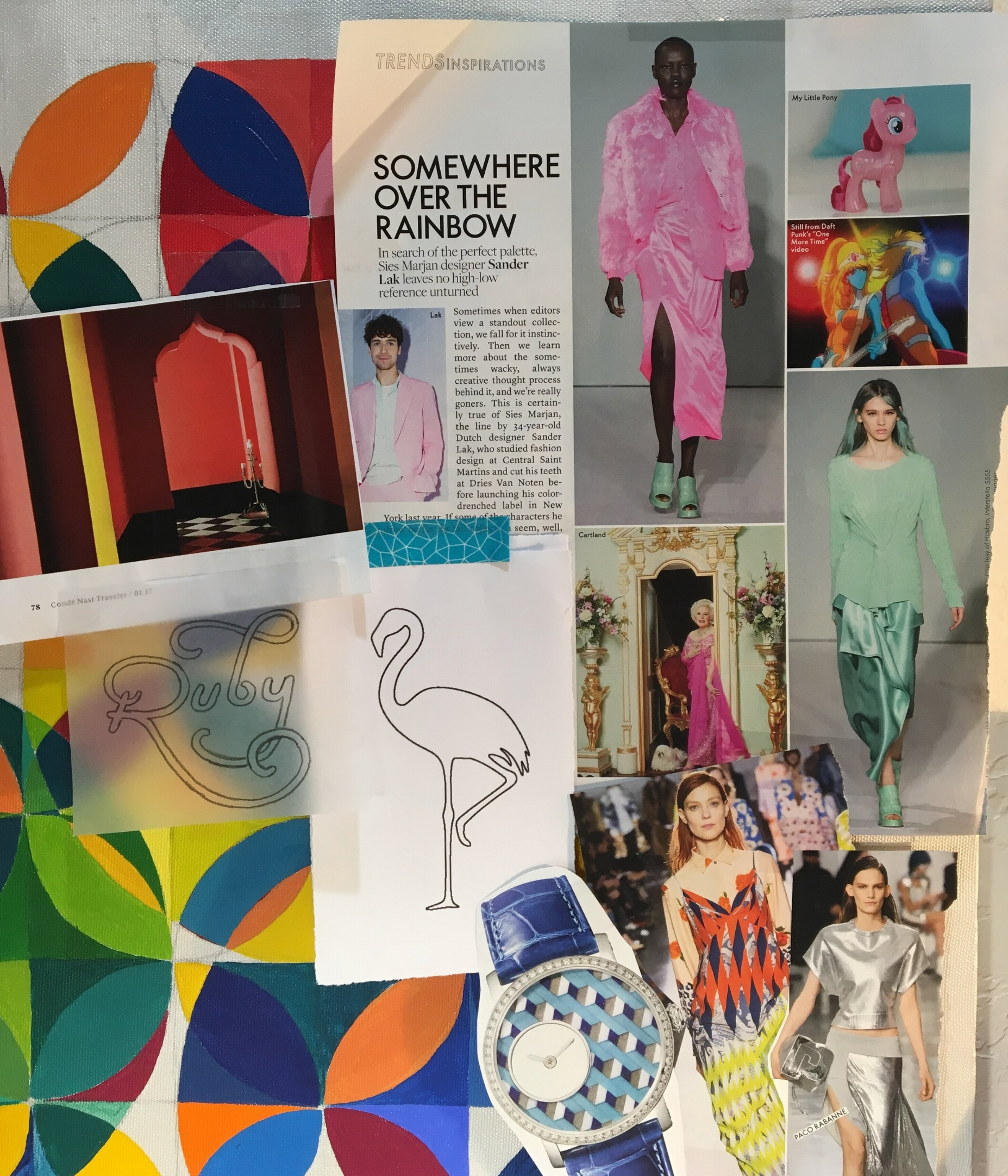 A feature on designer Sander Lak, ripped out of one of my fashion mags.