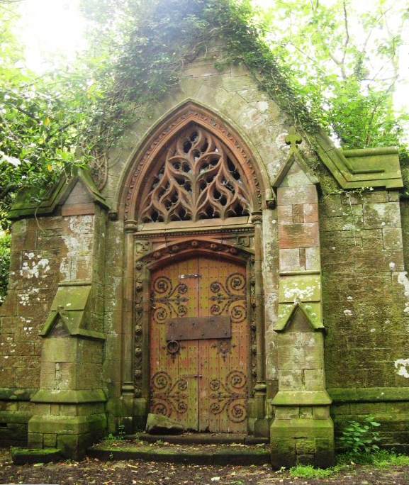 a crypt in Scotland. Those Door hinges! And the arch above the door! Such inspiration.