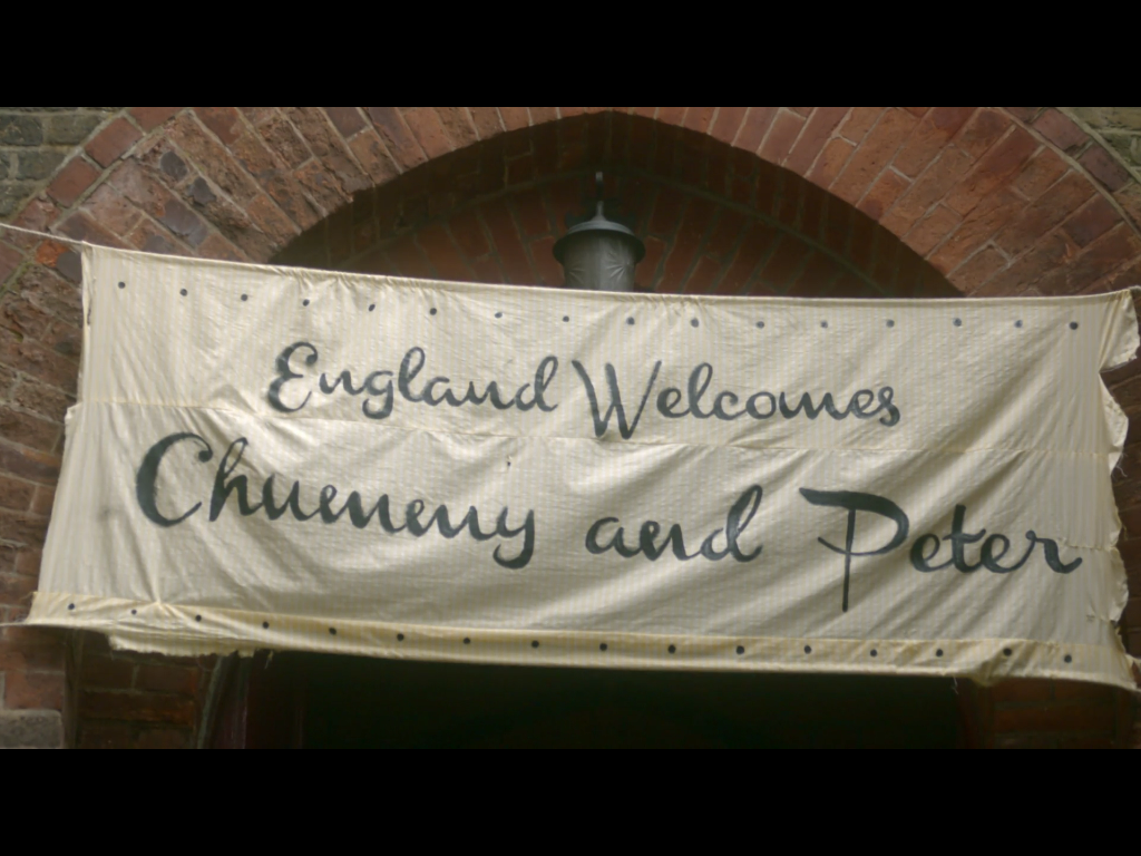this lettering on a banner in BBC/PBS series   Call the Midwife