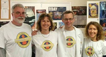 Ken, Jos, Matt, and Donna at Game Kastle in Santa Clara