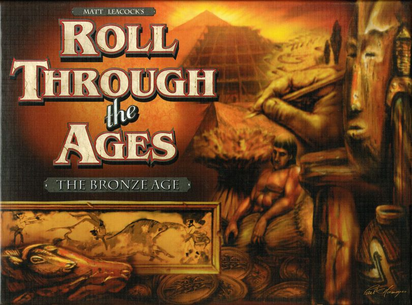 Roll Through the Ages: The Bronze Age  (2009). The challenge that my friends Chris and Kim threw down was to create a civilization-building dice game that could be played in 30–40 minutes.