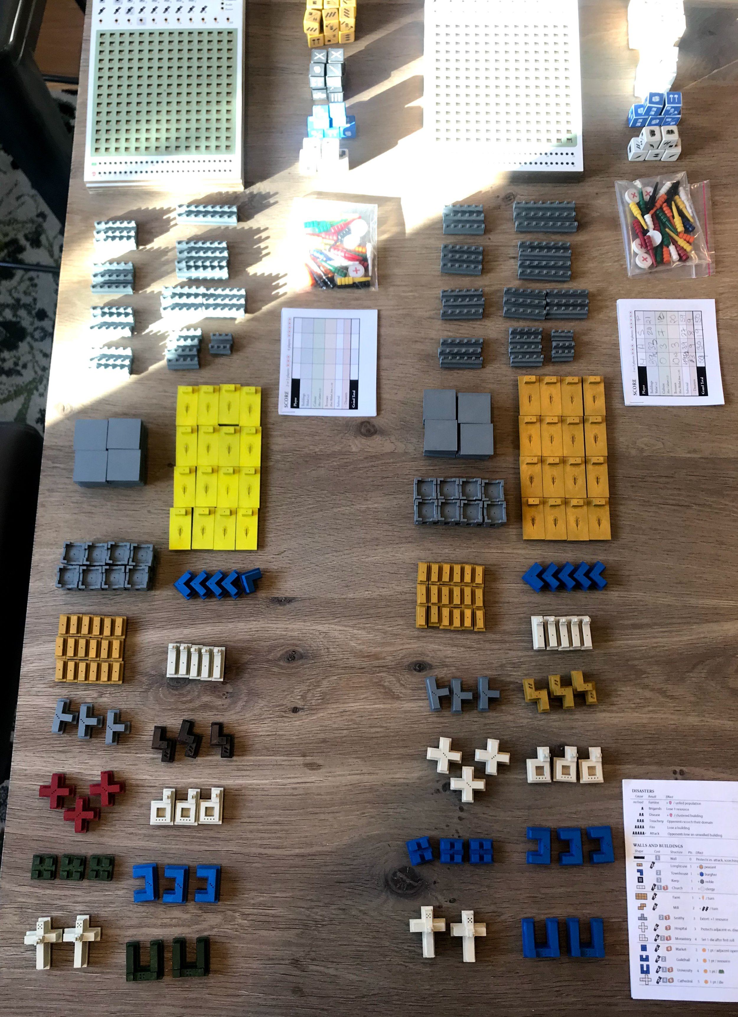 All the parts for two prototypes, painted and ready to go. Before I was done, I created six full prototypes.