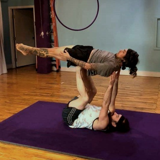 - Acro yoga