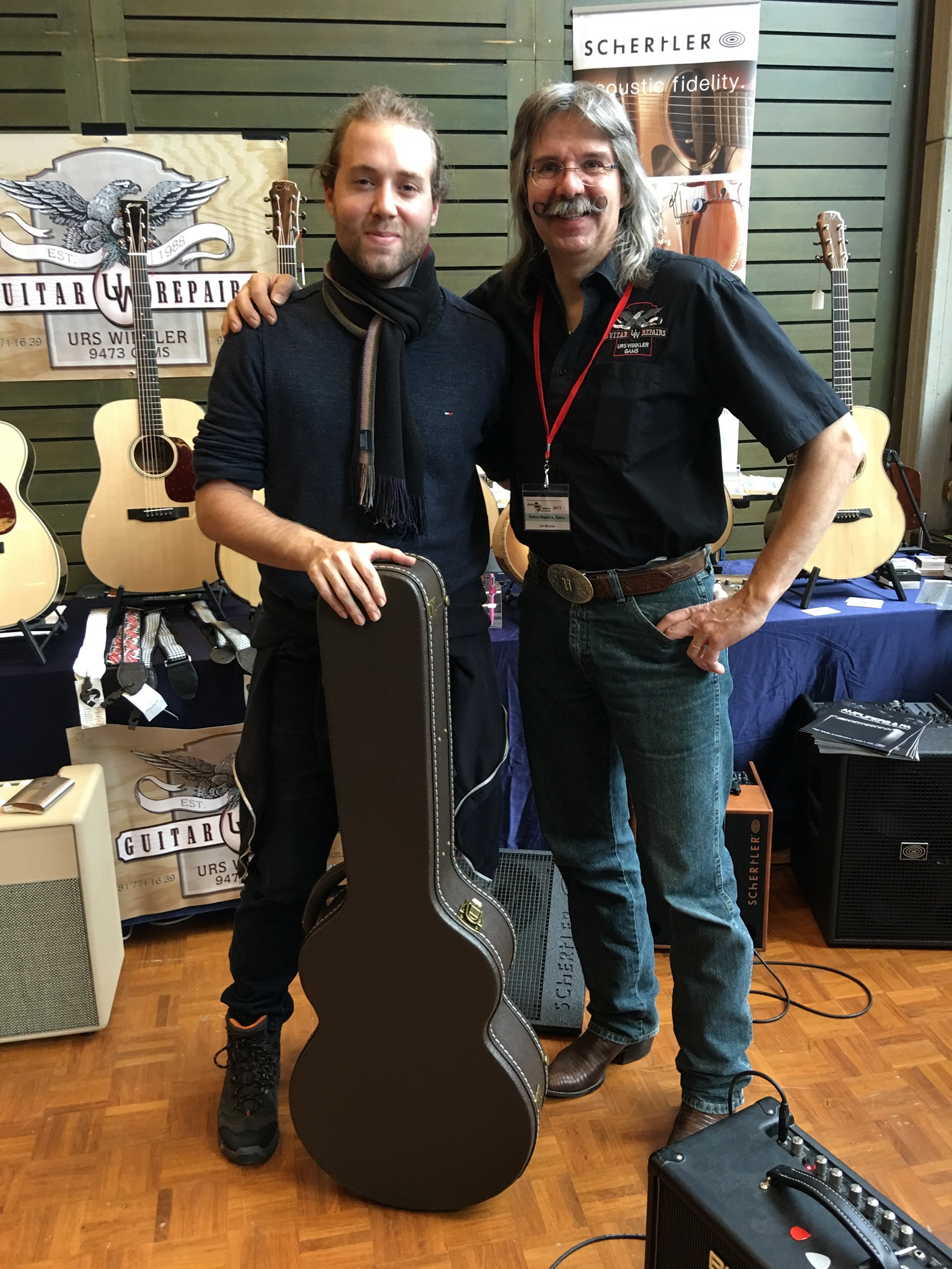 Picking up my new Maestro Guitar from Urs Winkler himself!