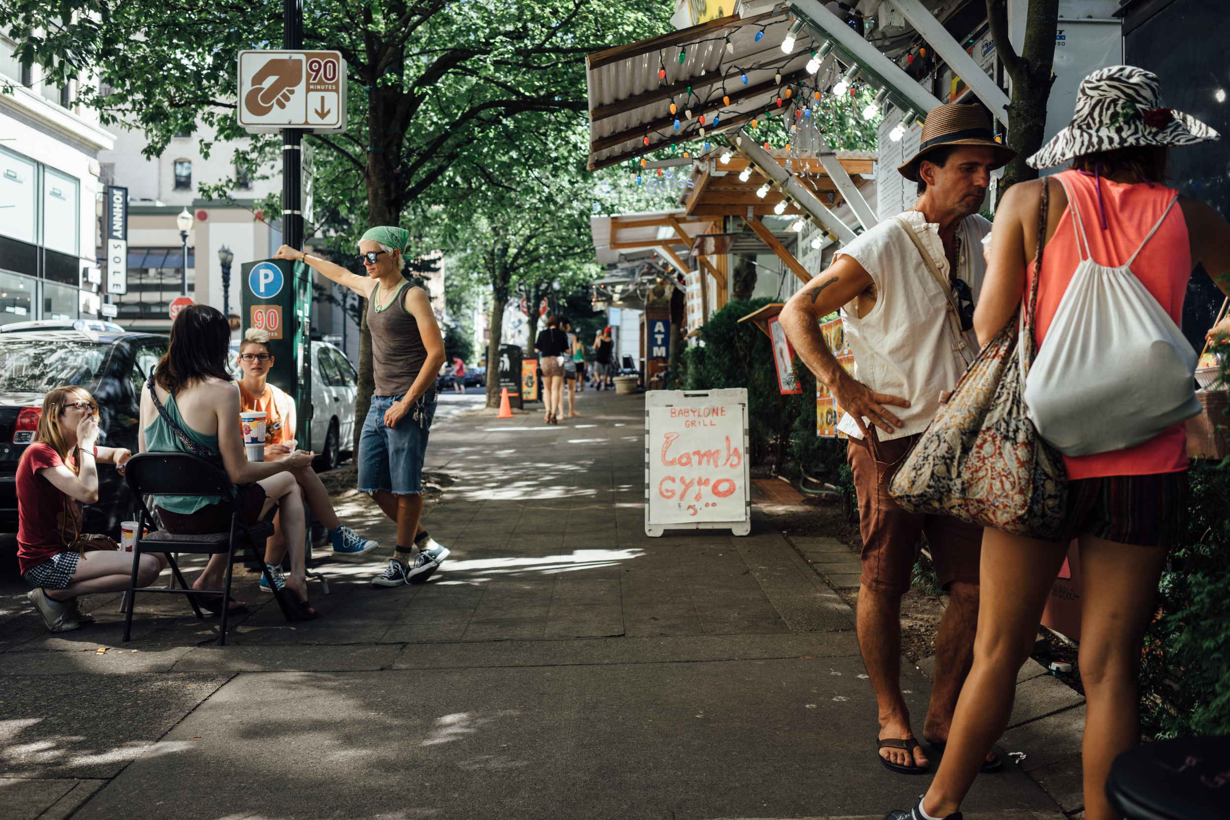 Food trucks can be found all over Portland; A favorite place to hang out for hipsters and tourists alike.