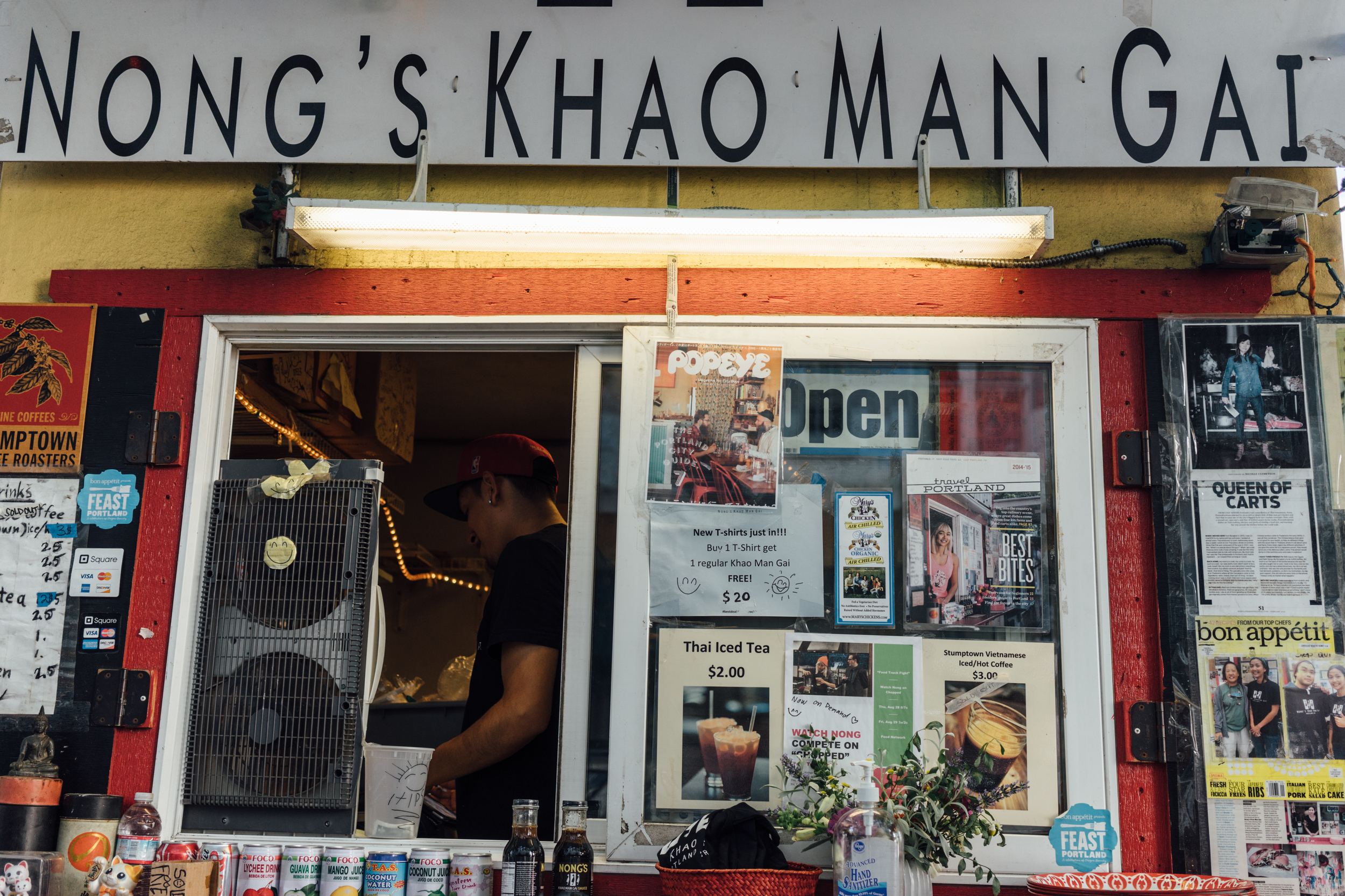 The famous  Nong's Kao Mun Gai  food truck.  Unfortunately they were closed for the day but fortunately that they have a sit-down restaurant to the south of the city.