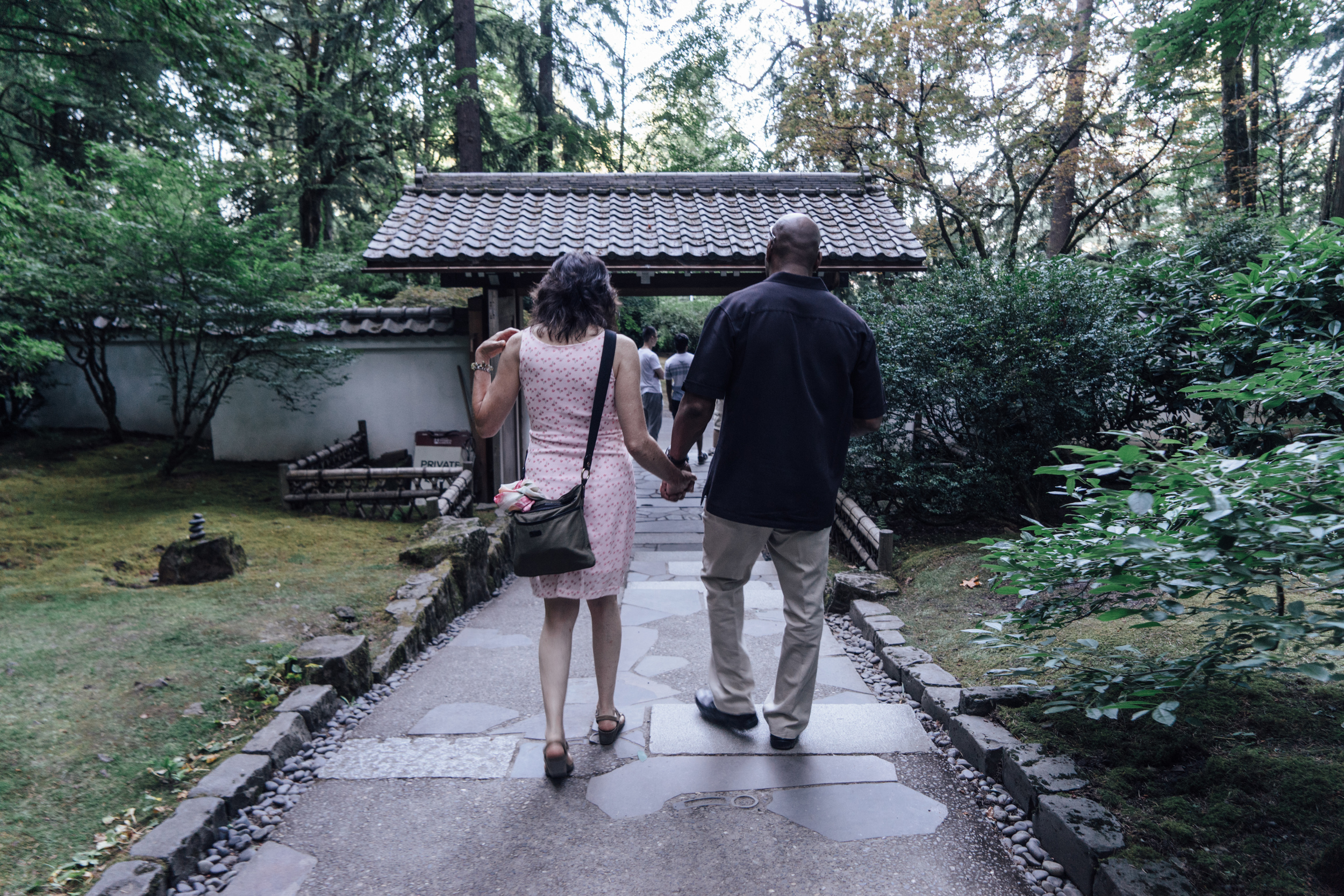 We took an evening stroll like this local couple at the  Portland Japanese Garden  in Washington Park.