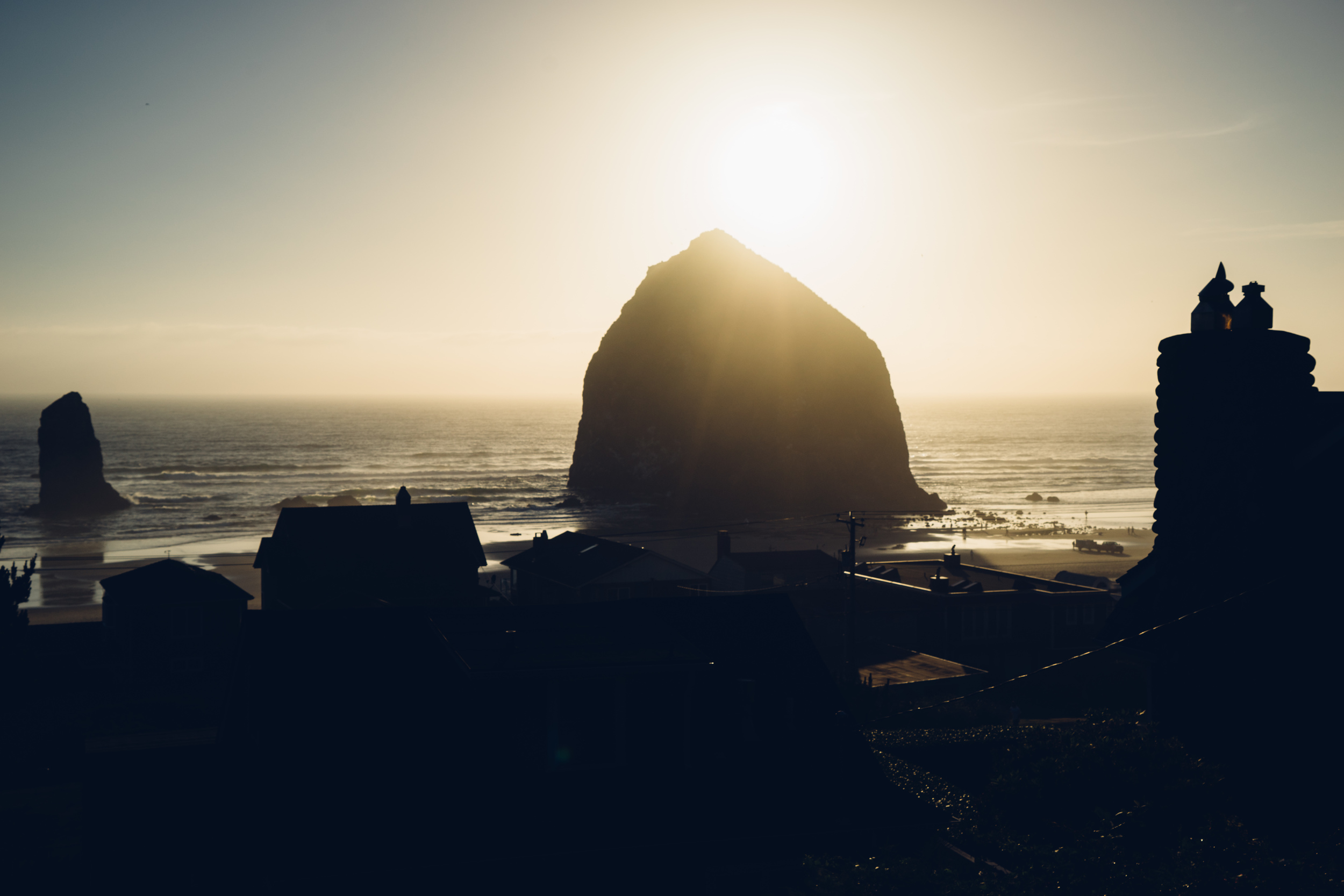This is our first glimpse of the  Haystack Rock  as we drove pass it. Simply breathtaking.