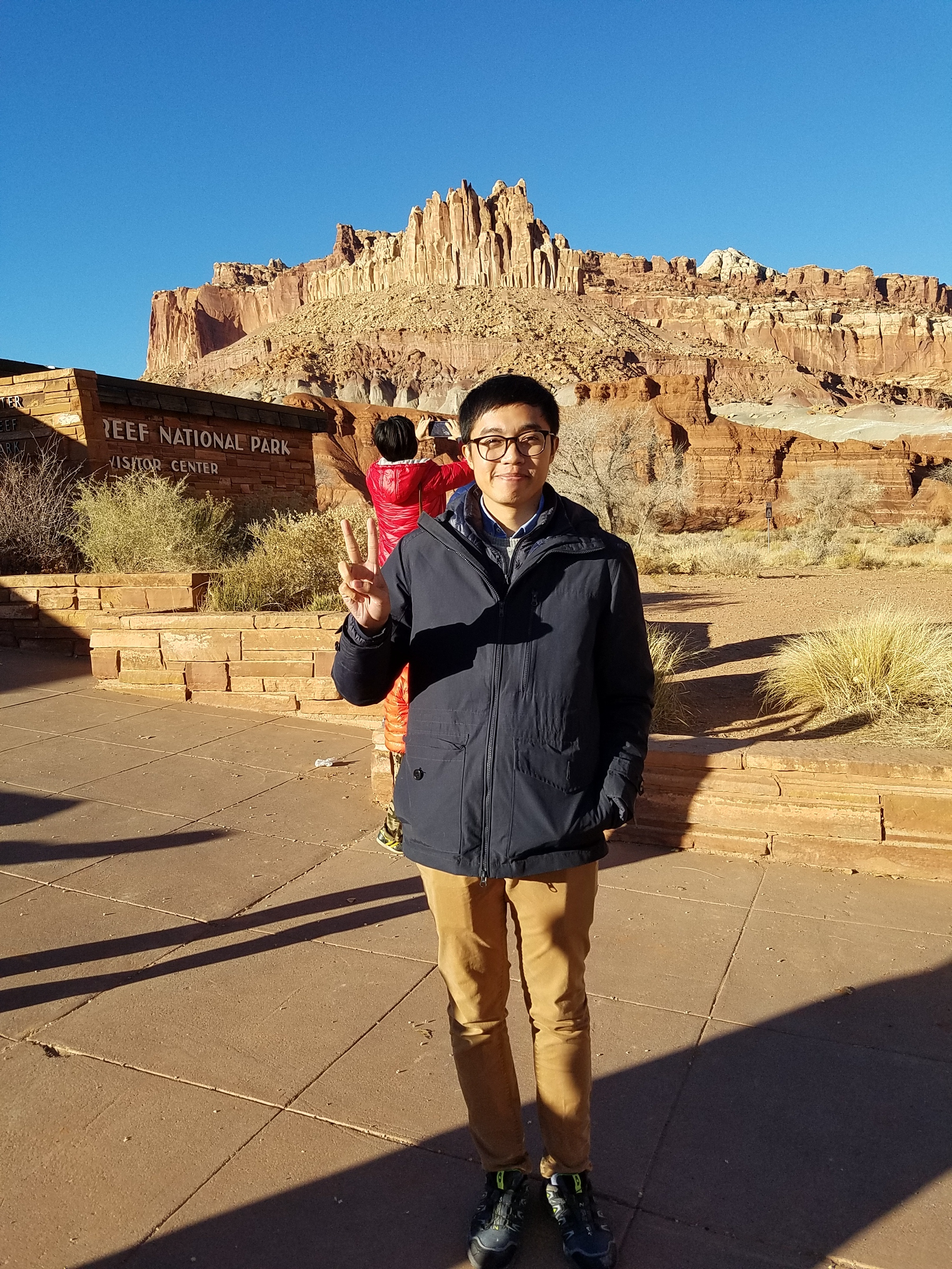 The only photo I could find showing that we visited  Capital Reef ...