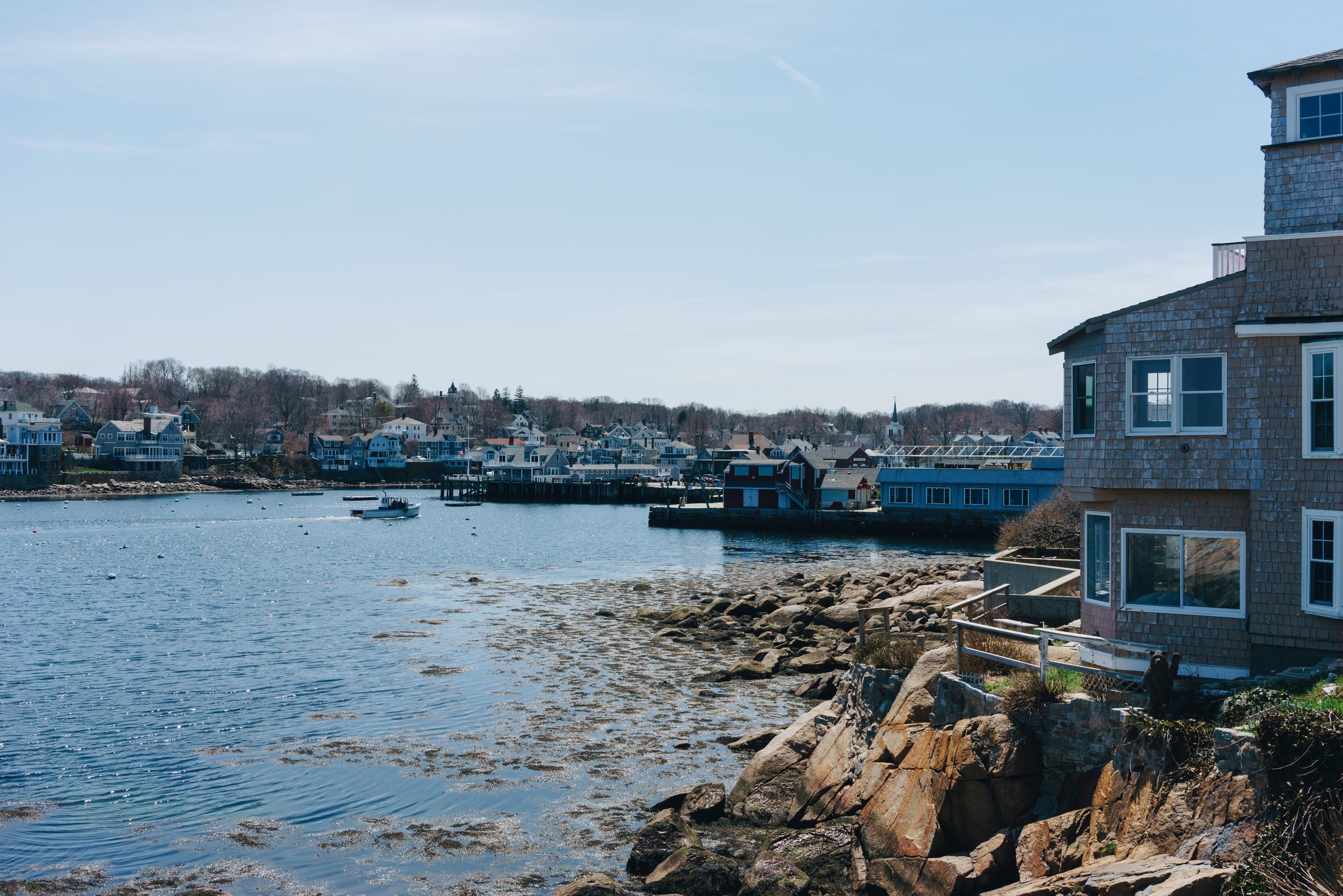 A very picturesque seaport town, much like what you'd see in movies.