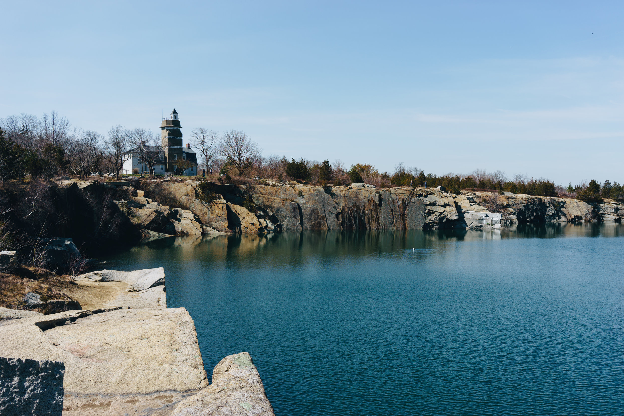 Halibut Point State Park is located at what used to be a granite quarry.