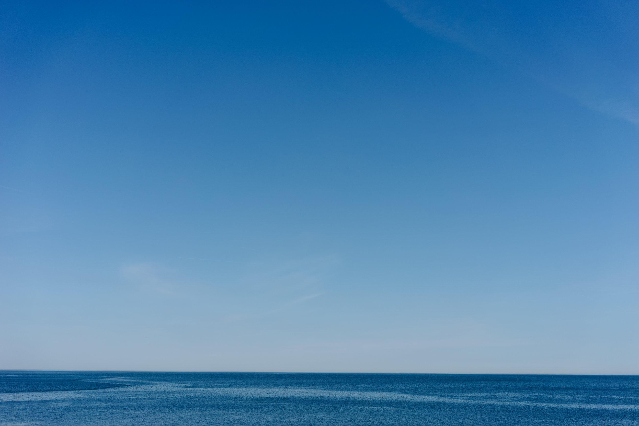 The Atlantic ocean seemed a bit calmer than the Pacific.