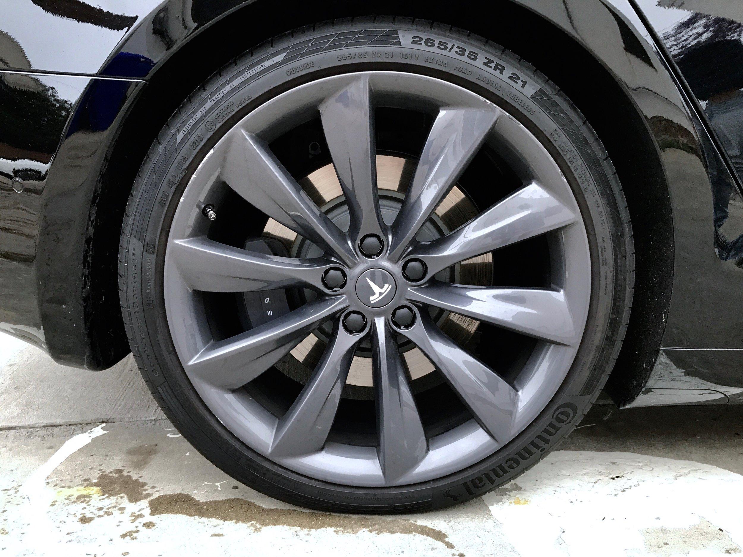 """21"""" Grey Turbine Wheel makes this car one mean machine!"""