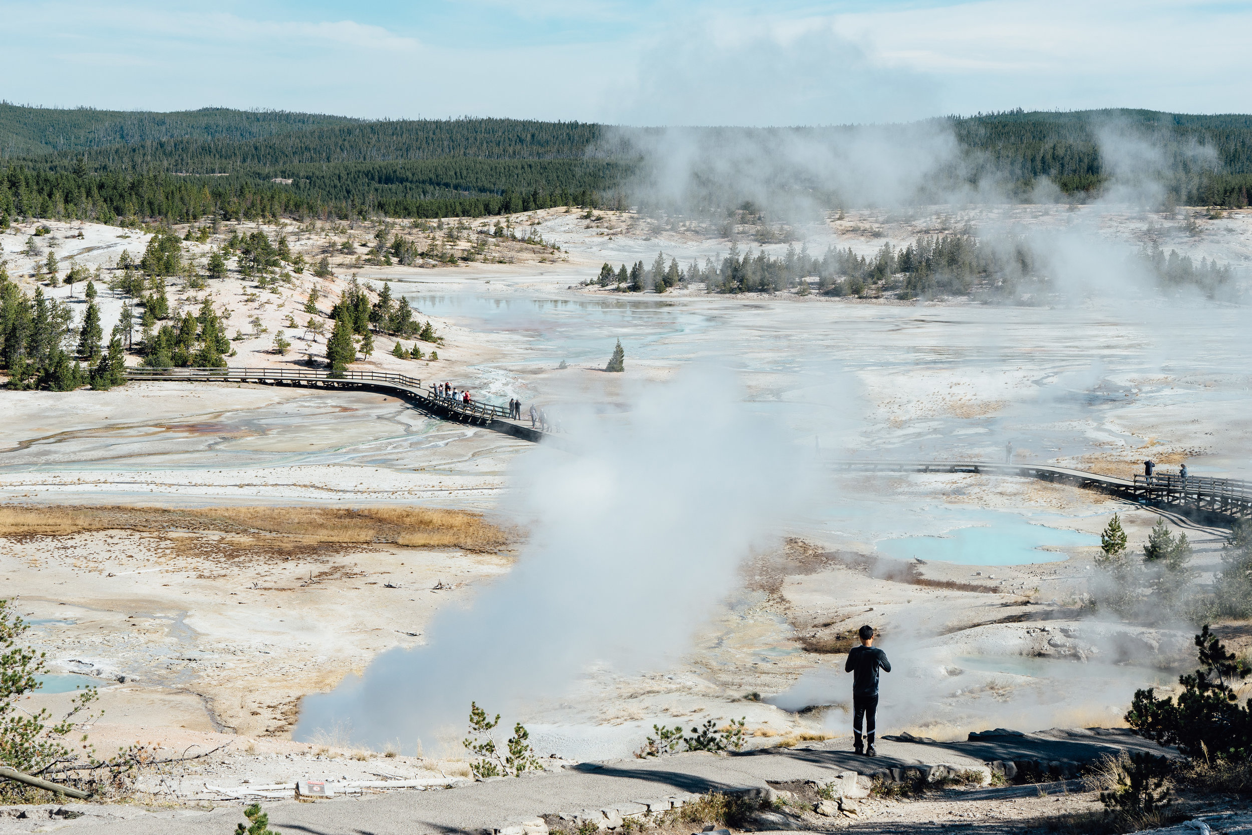 Norris Geyser Basin  is the hottest and oldest of Yellowstone's thermal area.
