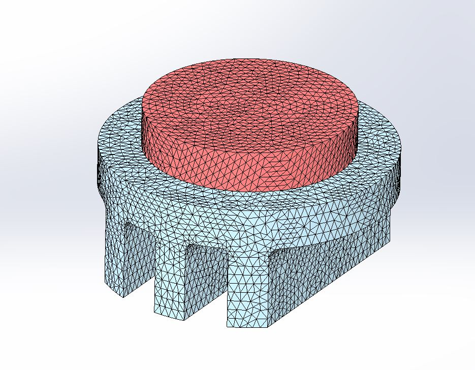 FEA Mesh of a Heat Sink