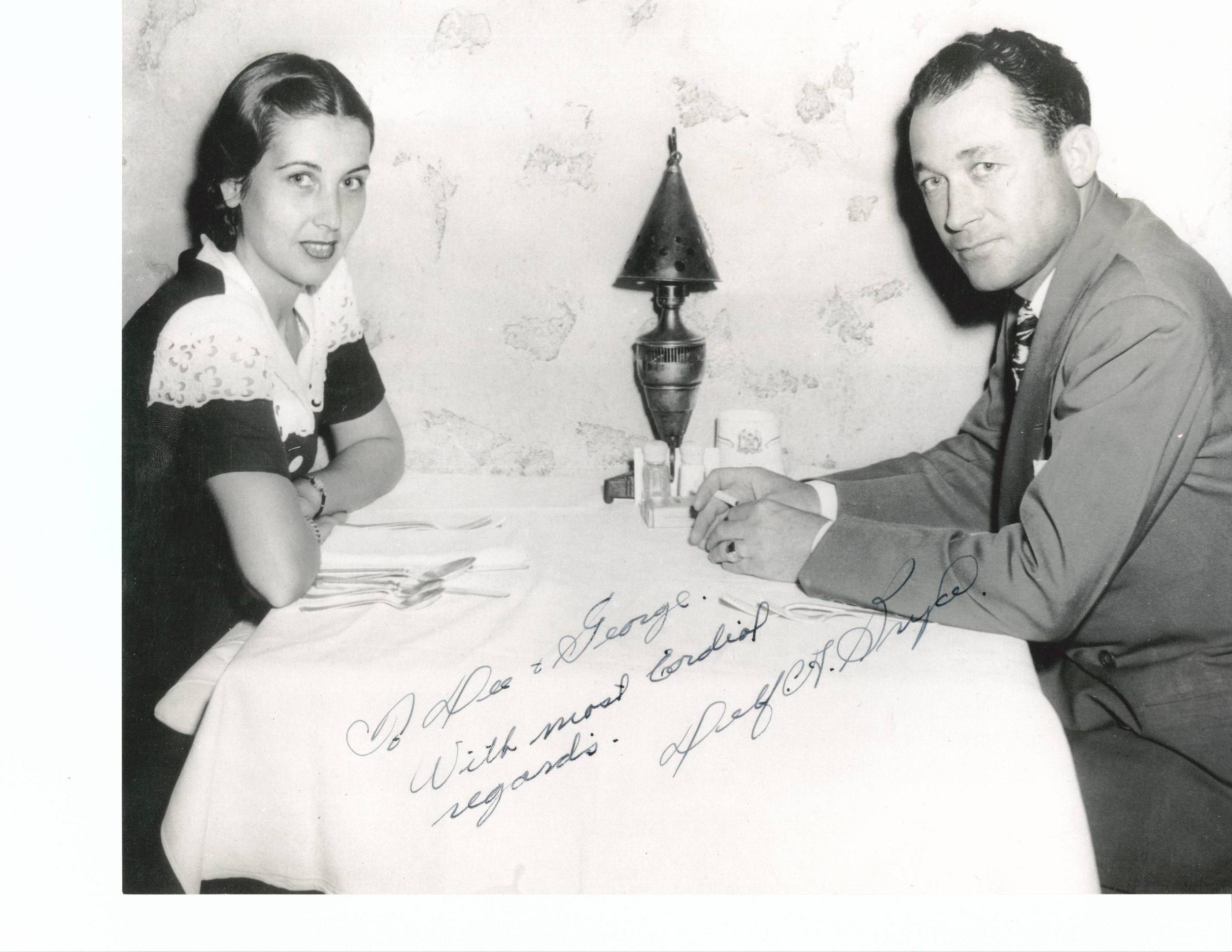Bryce and his second wife circa 1950s. Courtesy Franklin family