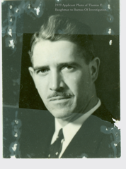 """Frank"" Baughman's 1919 application submission photo to the Bureau."