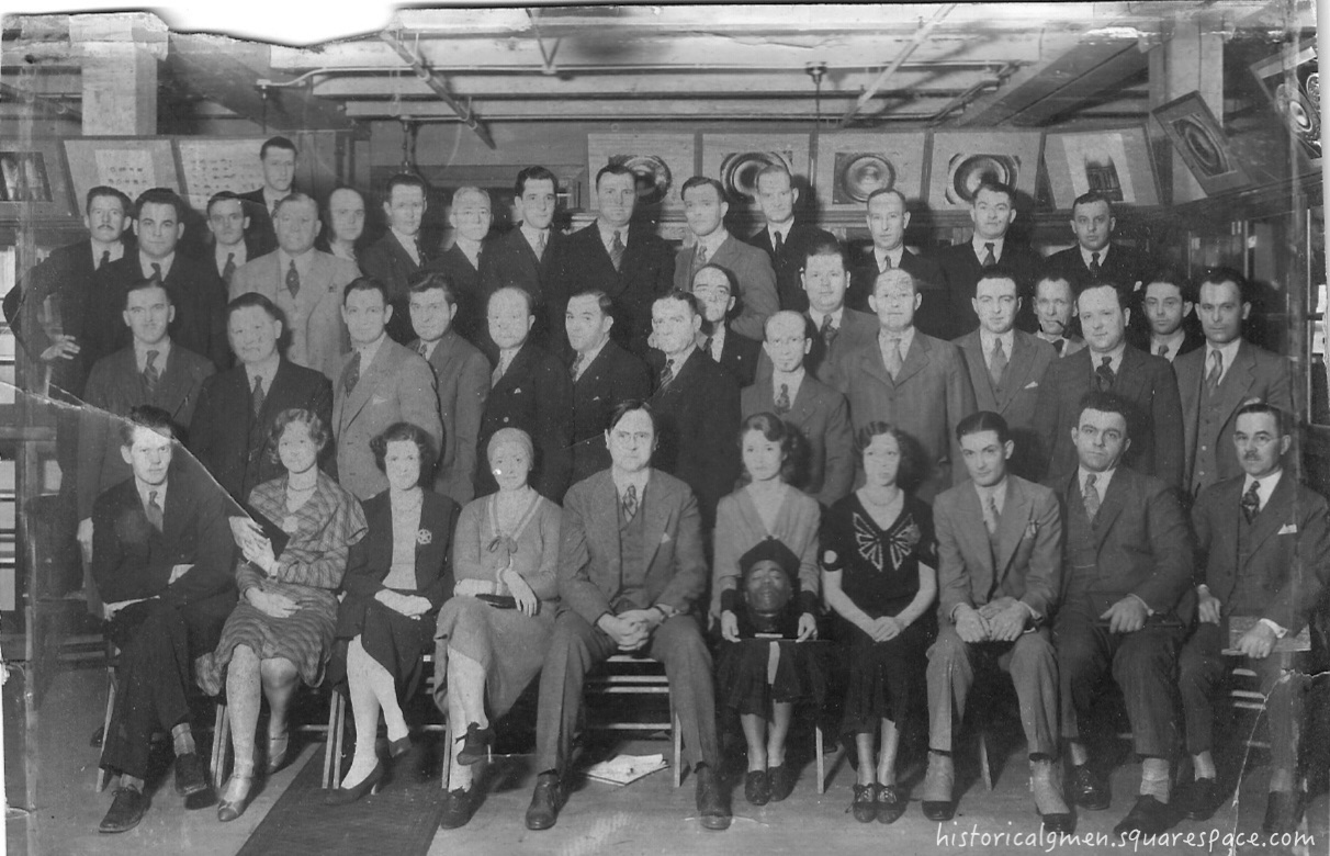 Unidentified pioneersof the FBI Lab circa 1930s. (Courtesy retired SA Ed Appel, Sr.) Click to enlarge.