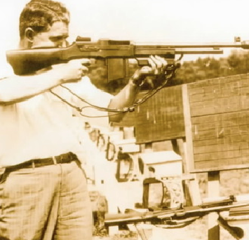 Courtesy of his son, retired SA Robert Core, his father SA John W. Core is shown here in the late 1930's at firearms practice with the Colt Monitor. This particular photo has been seen in magazines around the country.