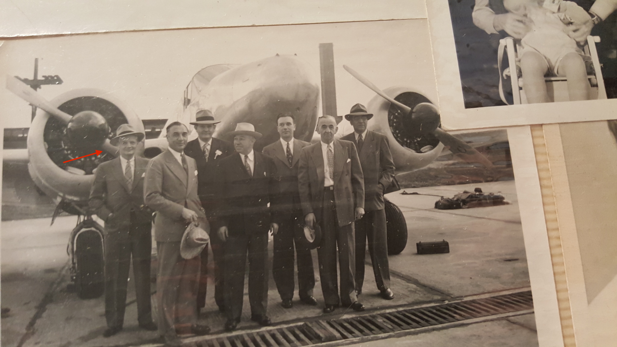 SA Fred McIntyre (arrow) and other FBI agents currently unidentified. McIntyre served from 1934 until 1955 and possibly was an instructor at the Quantico firearms facility which we have yet to verify. (courtesy his niece, Susan Gilchrist) Circa 1930s