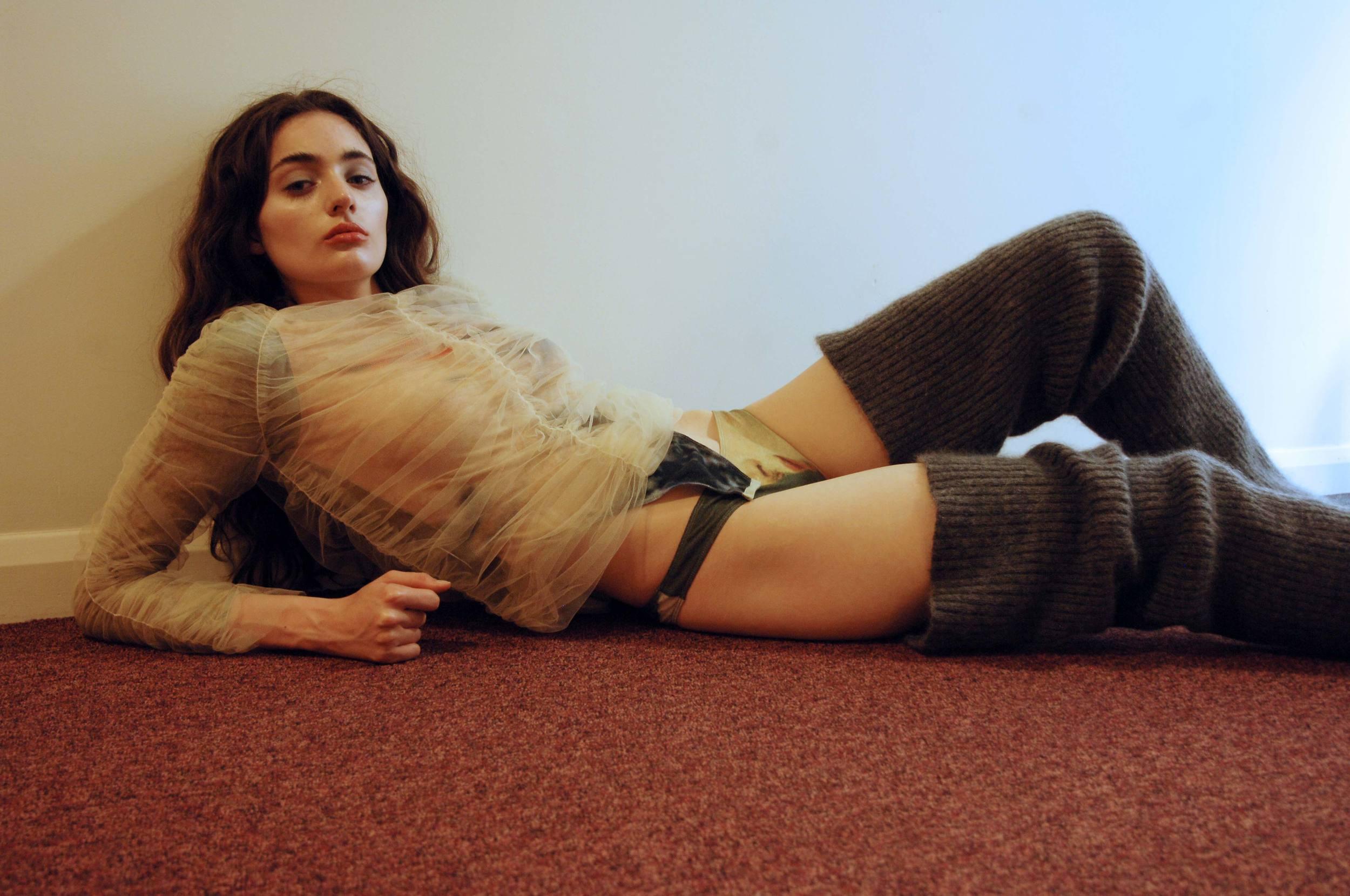 top MOLLY GODDARD, body + underpants ELLISS, leg warmers LAUREN HAE IN JIN