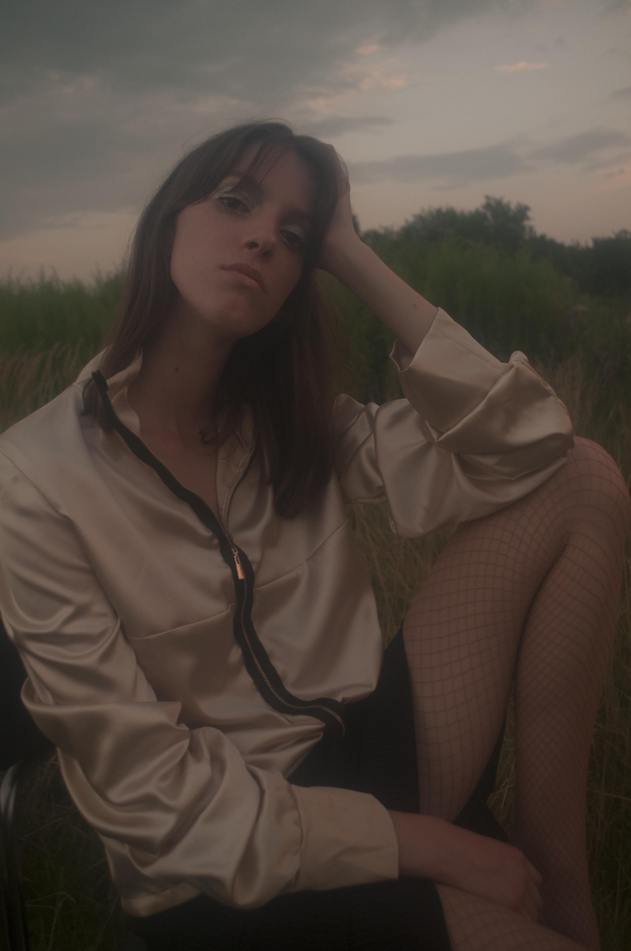 satin blouse DRAMAT, skirt ESCADA