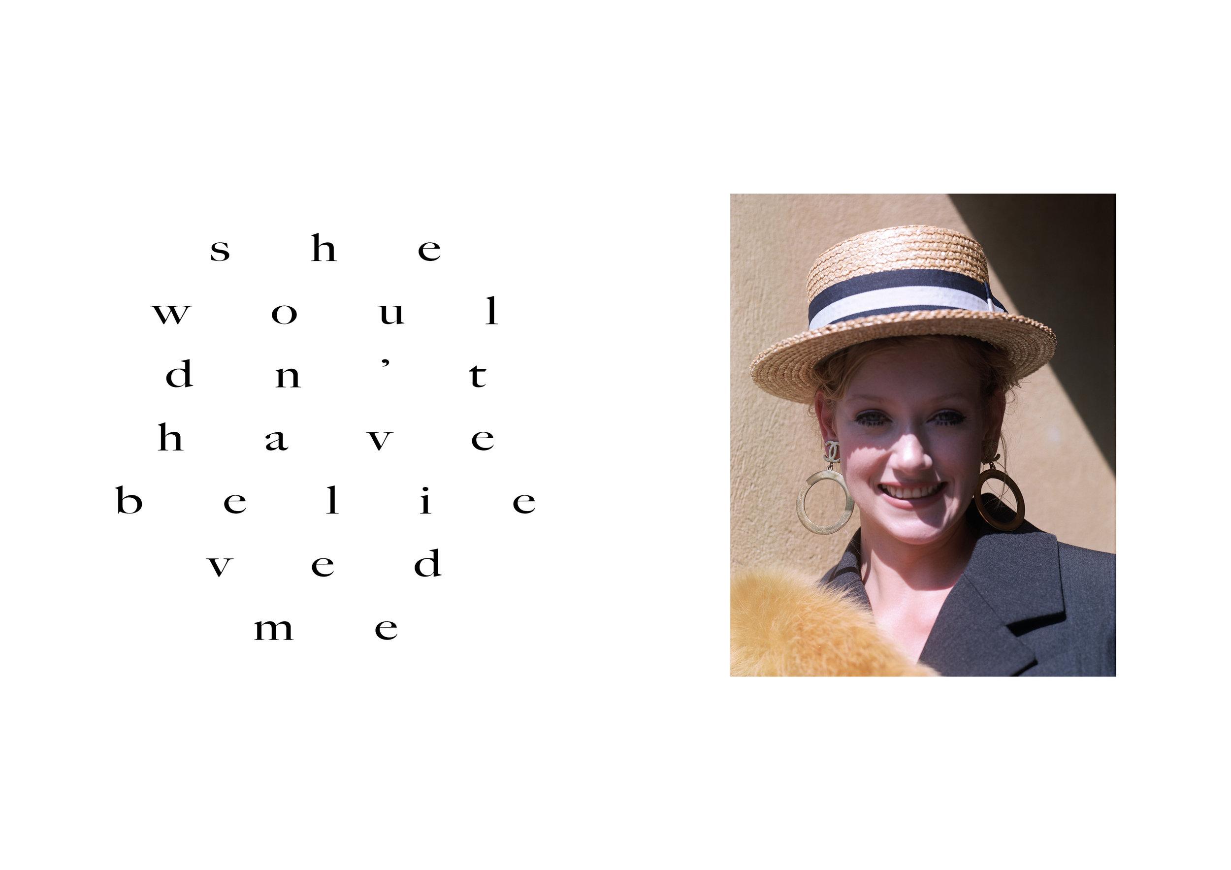 hat CHANEL, earrings CHANEL / AU VINTAGE, suit CHANEL, fur MIU MIU