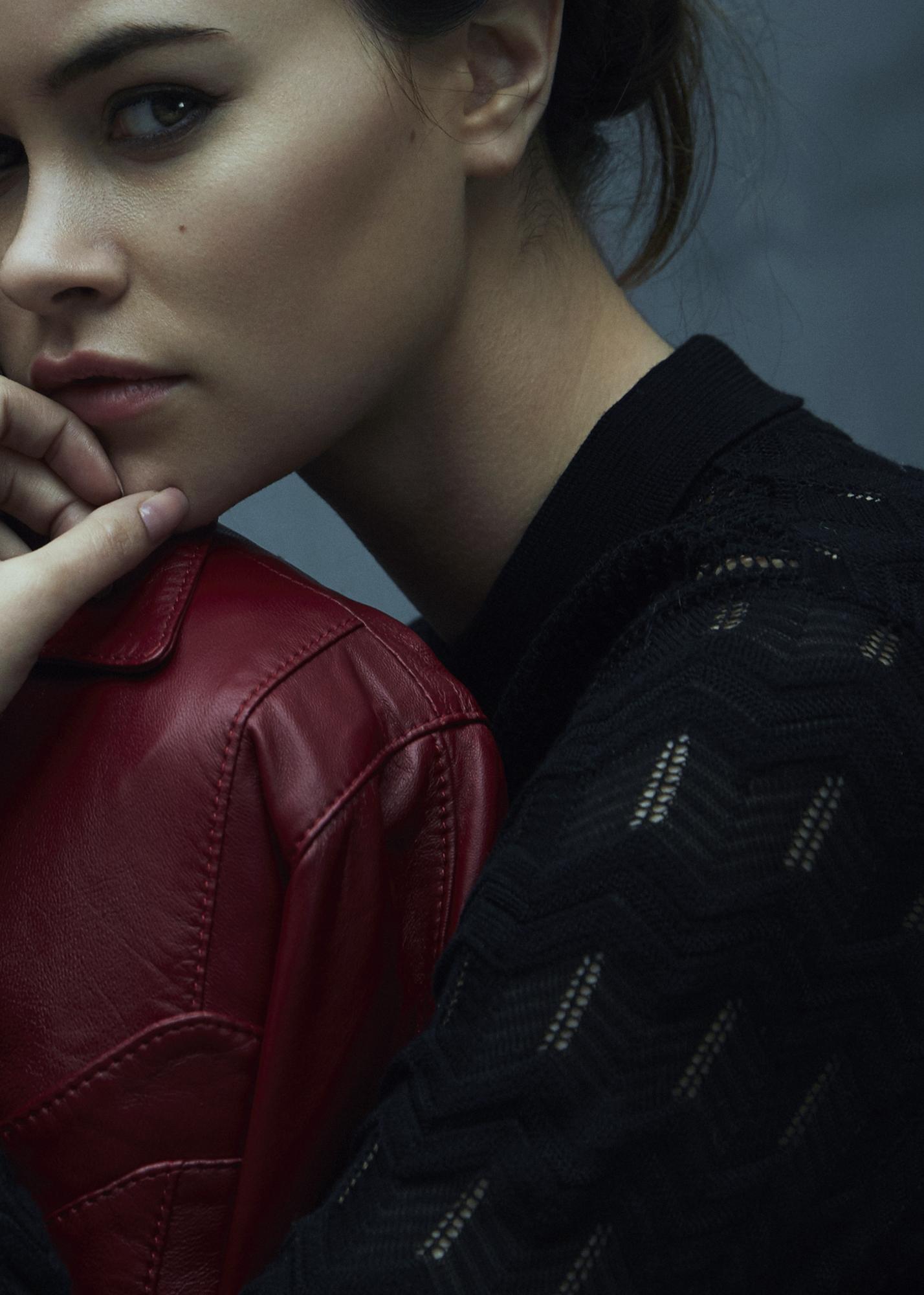 leather blazer  LAMIJA ,dress  M MISSONI
