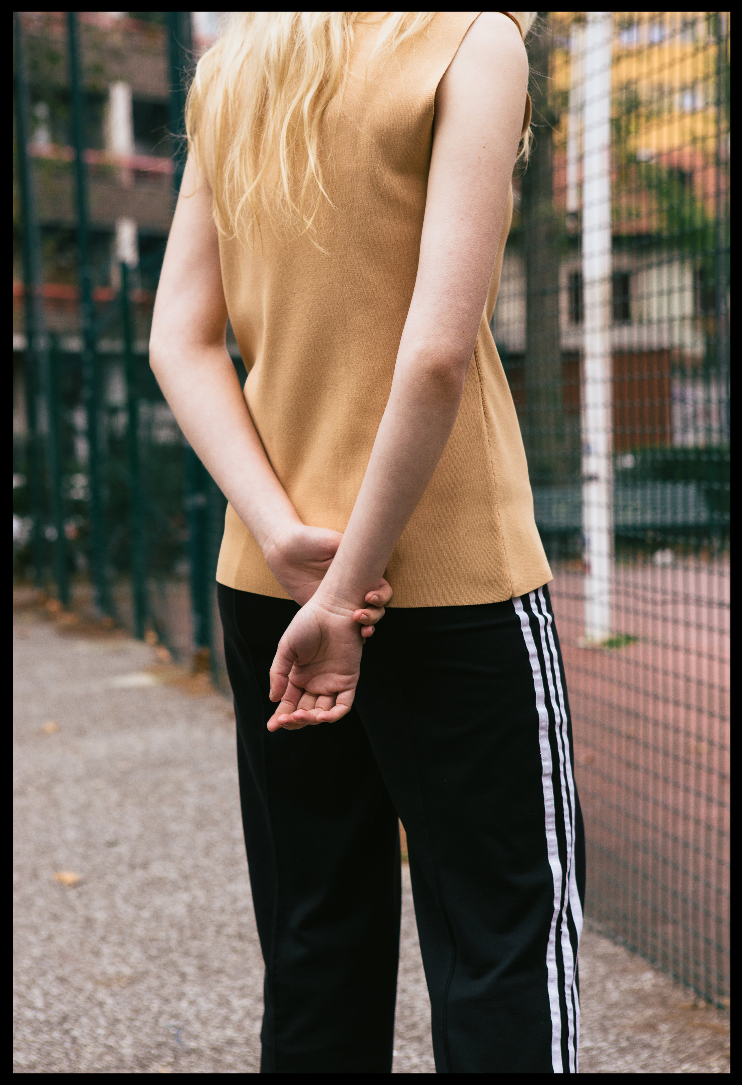 top VINTAGE,trousers  ADIDAS  VINTAGE, boots  Elena lachi