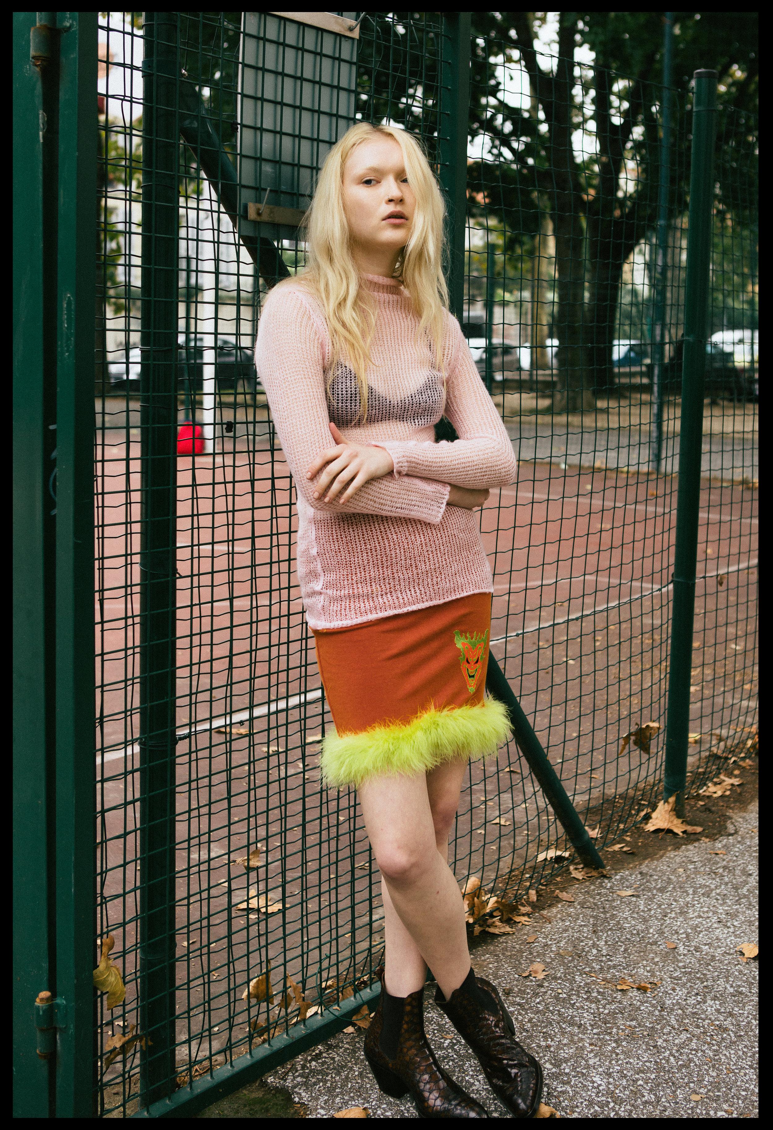 jumper  UNIF ,skirt VINTAGE,boots  Elena lachi