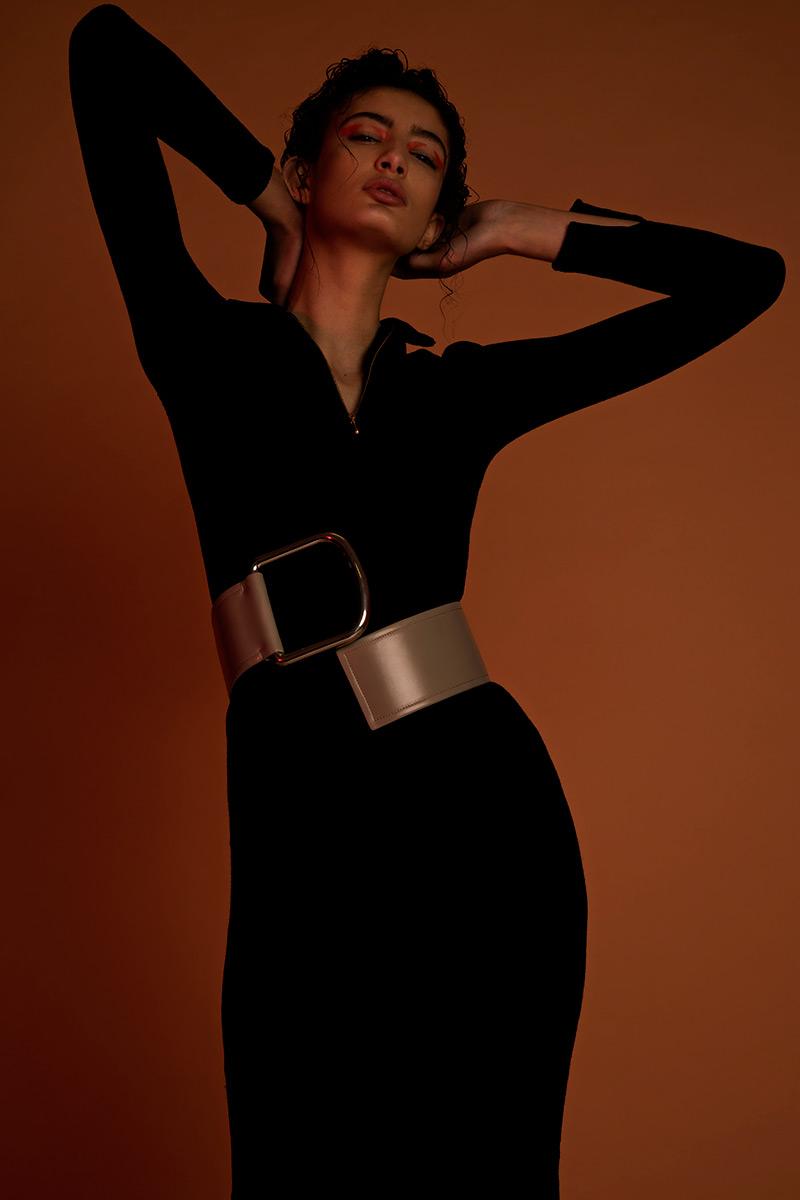 dress  LIVIA ARENA , belt  ACNE STUDIOS