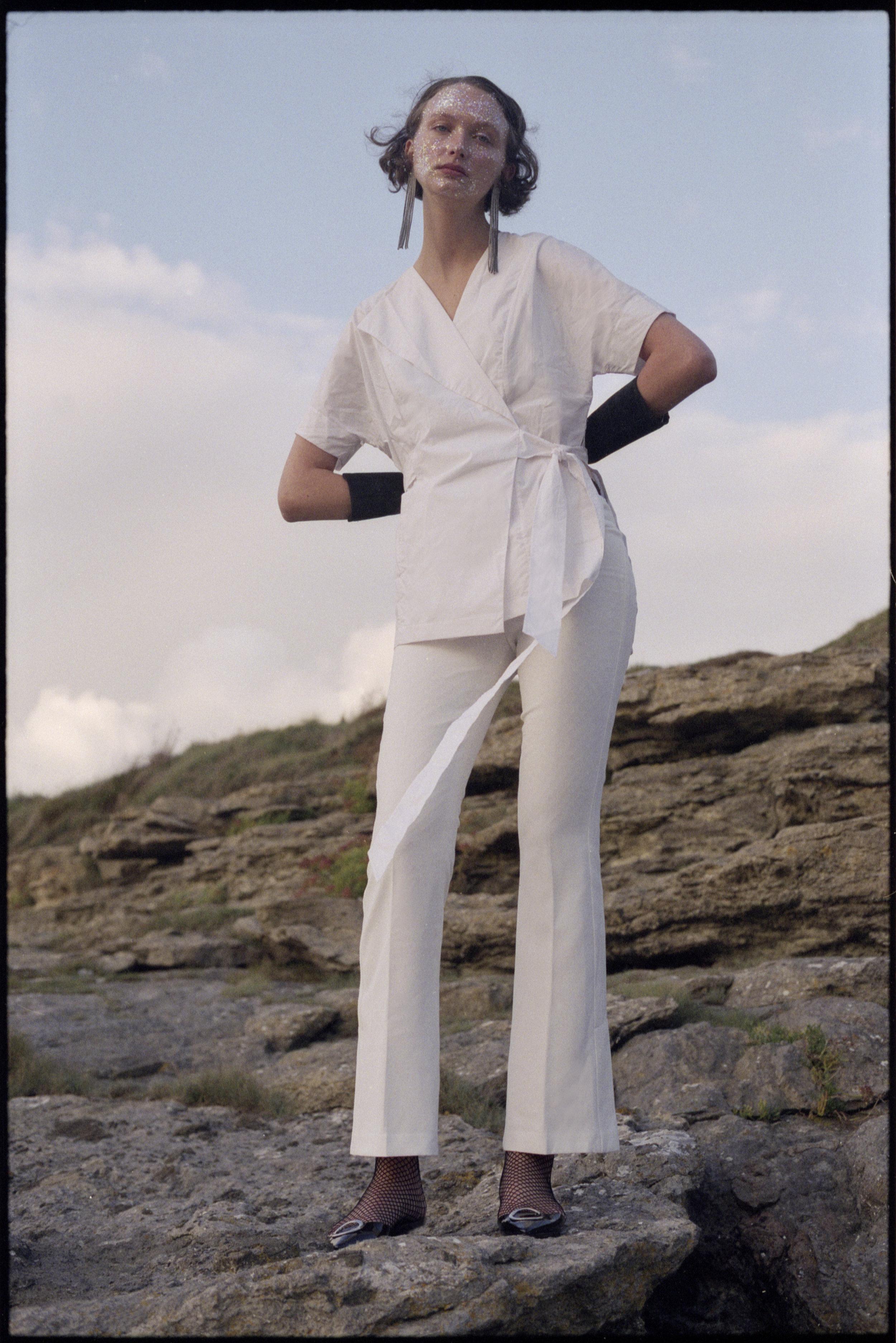 shirt  WHISTLES , trousers + gloves VINTAGE, earrings + shoes  ZARA