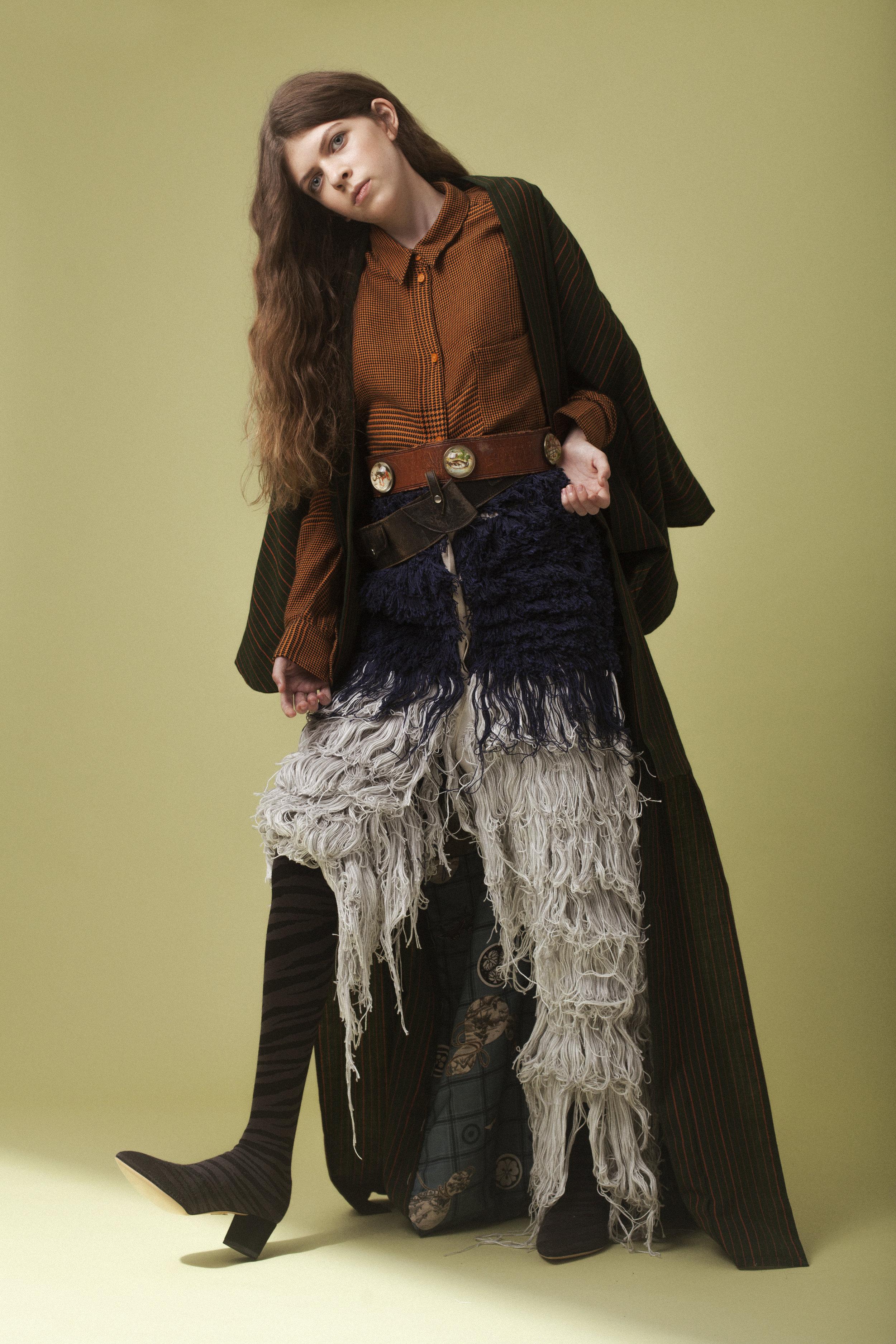 kimono + belts  BEYOND RETRO , shirt  CHEAP MONDAY , trousers  GAENUS , shoes  CHARLOTTE OLYMPIA