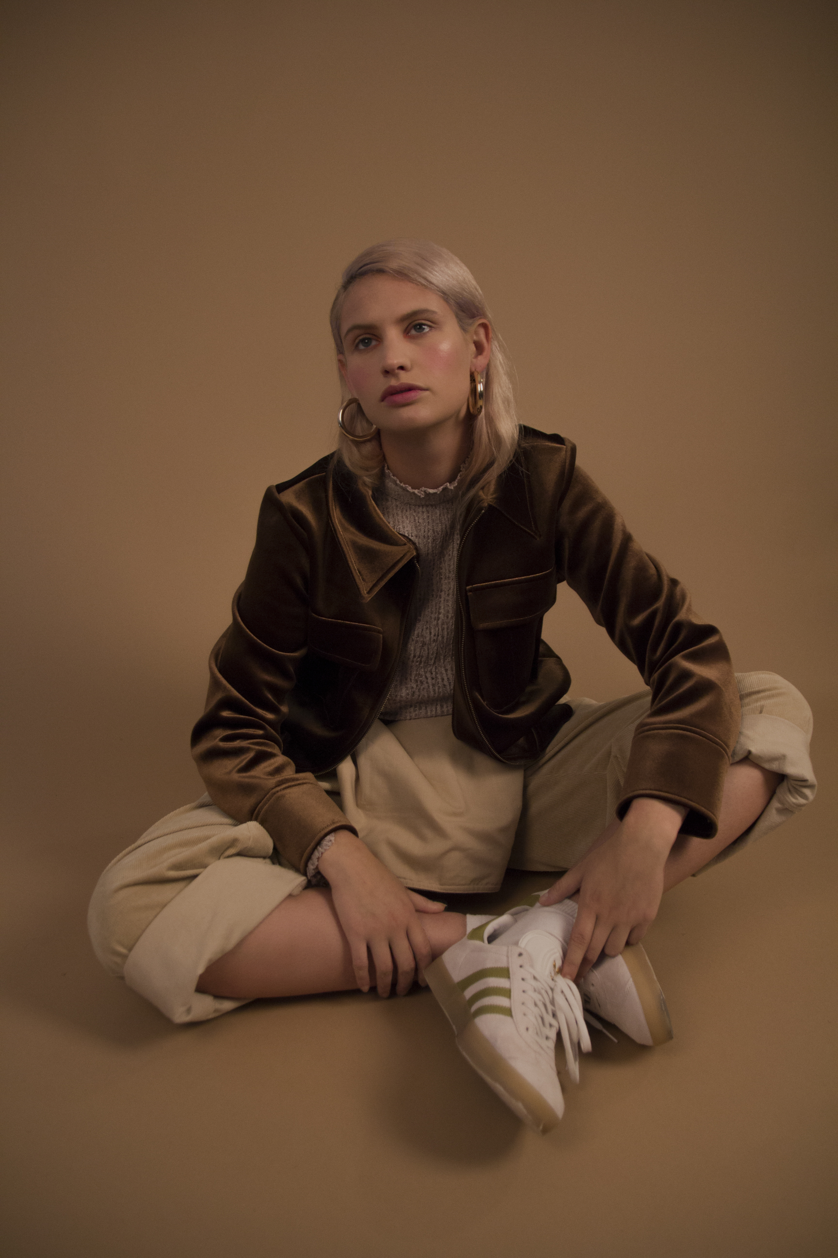 top + jacket  ZARA , overalls  SECLUDED CLOTHING , shoes  ADIDAS
