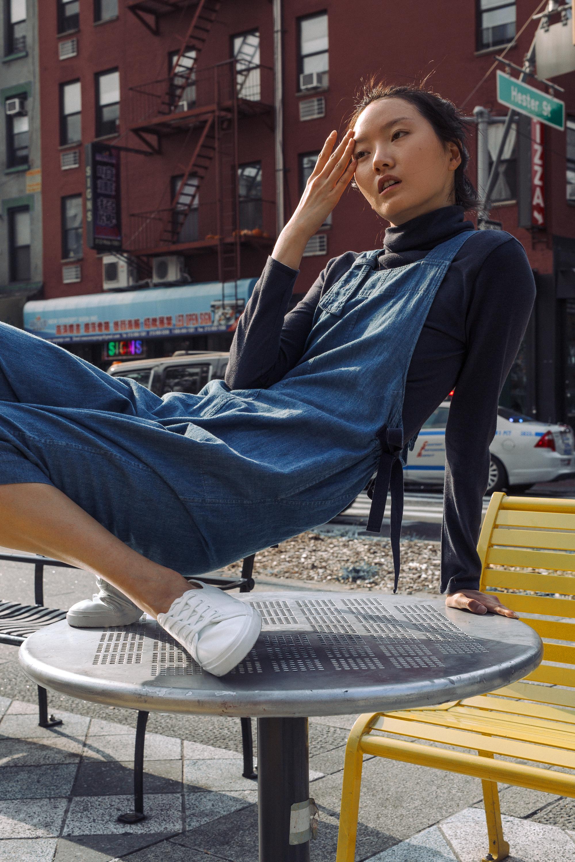 top + jumpsuit  STEVEN ALAN ,shoes  H&M