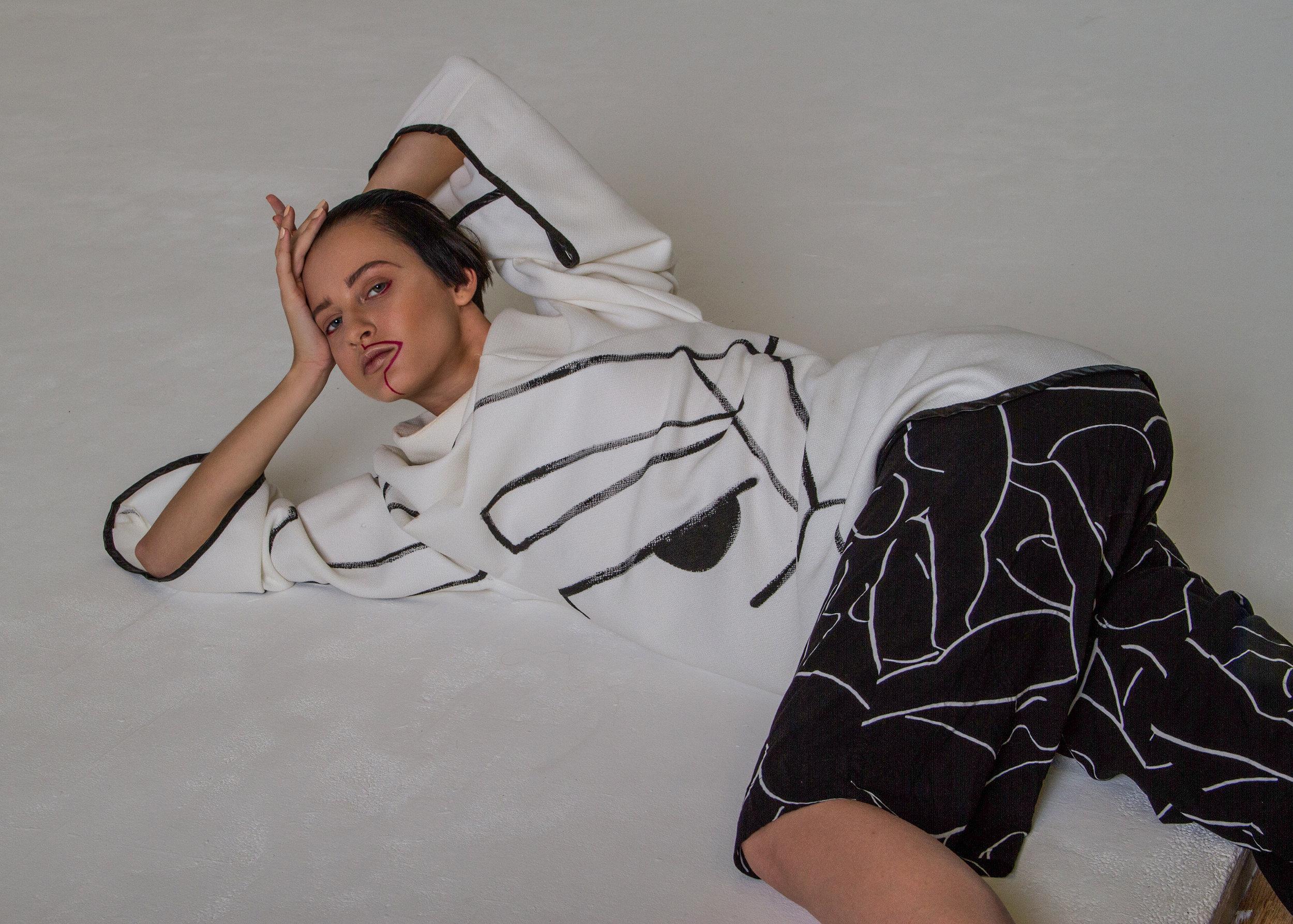 top  MAGDALENA CZARNIECKA , trousers WEEKDAY