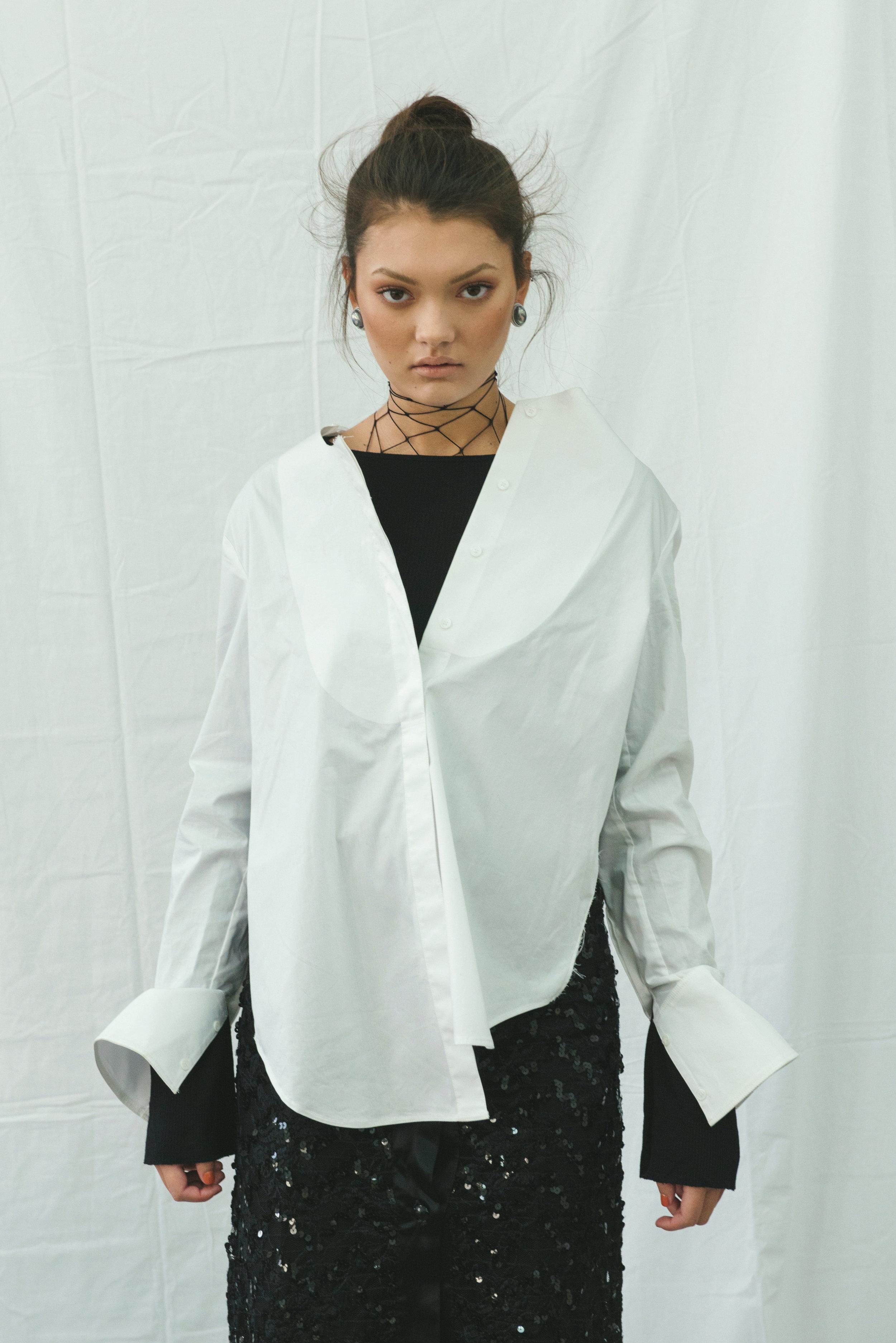 underlay ZARA, top + trousers  H&M , skirt VINTAGE, boots  ALDO , earrings STYLIST'S ARCHIVE