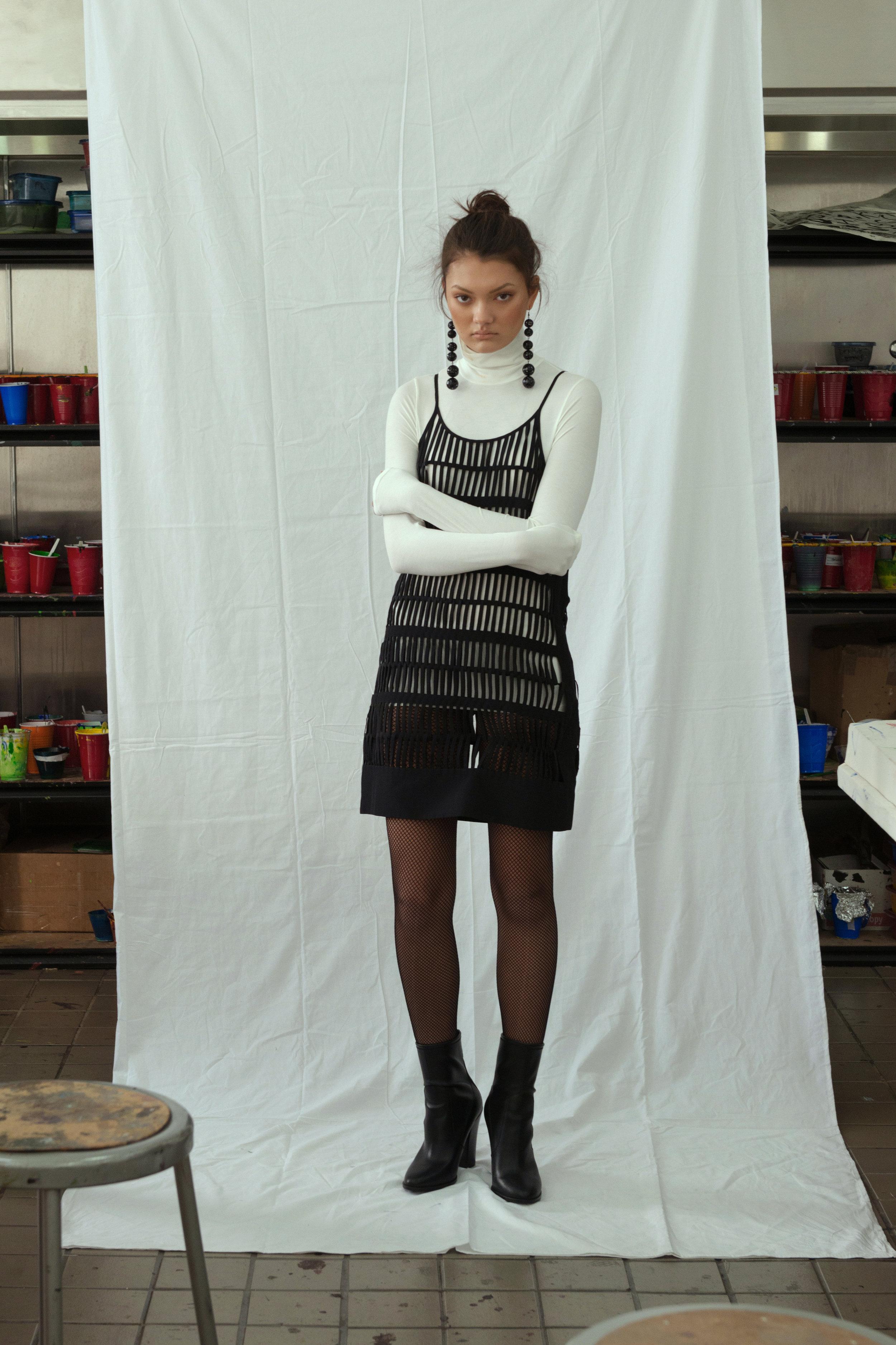 top  H&M ,dress  LOEFFLER RANDALL boots  ALDO , earrings STYLIST'S ARCHIVE