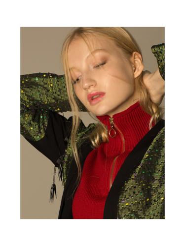 green jacket  ELMIRA MARKES , red jacket + cloak  ZARA